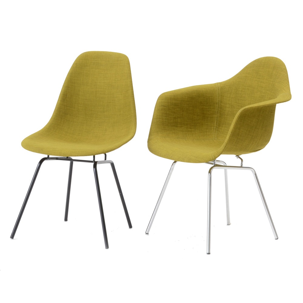 Mid Century Modern Eames Style Accent Chairs