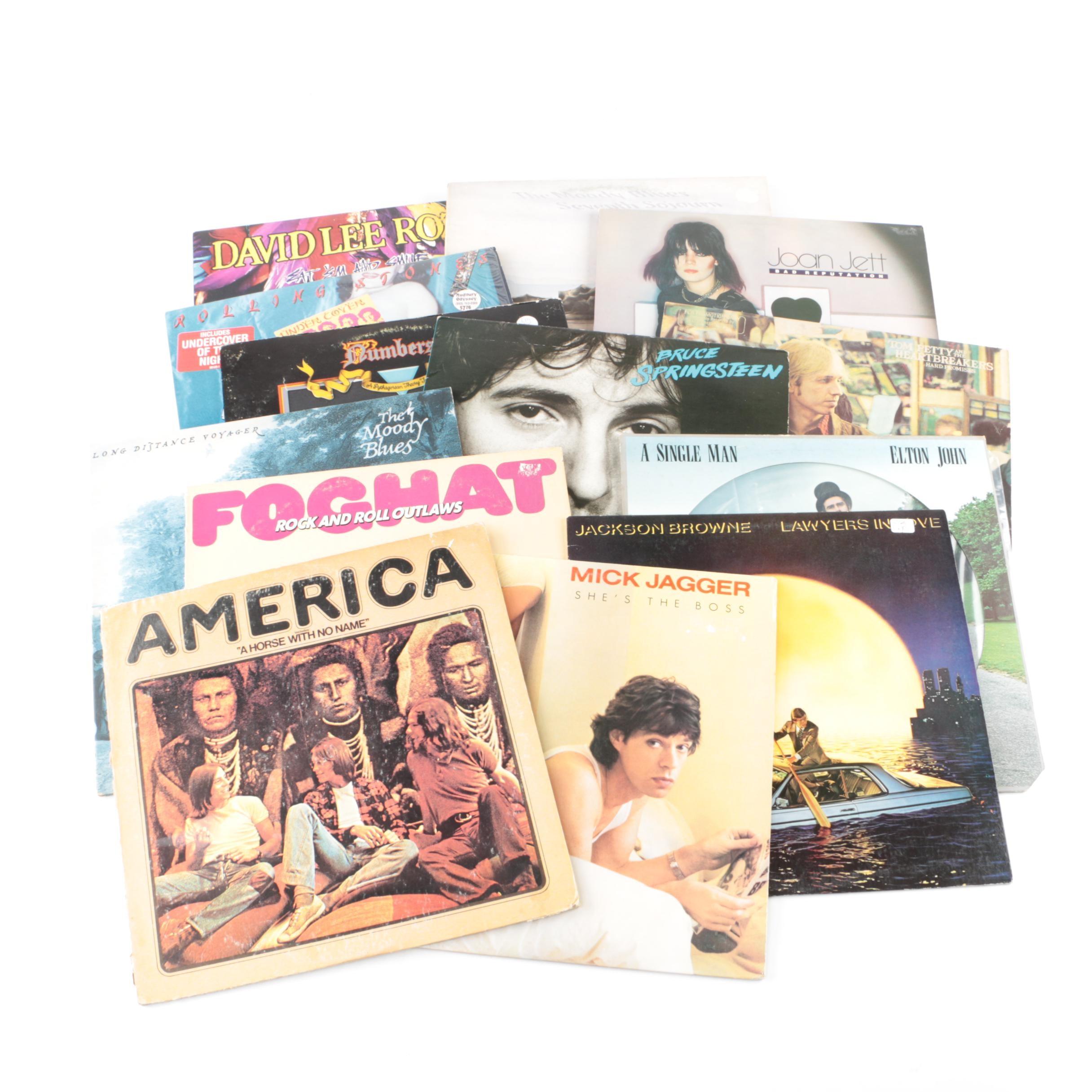 Classic Rock LPs Including Elton John Picture Disc