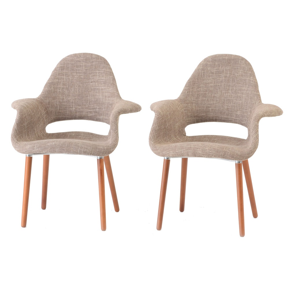"Pair of Poly and Bark ""Organic"" Chairs"