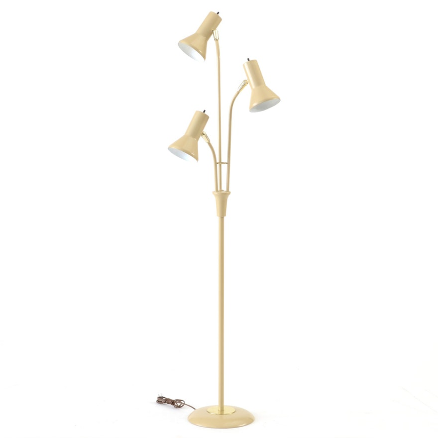Gerald Thurston Style Floor Lamp With Three Heads