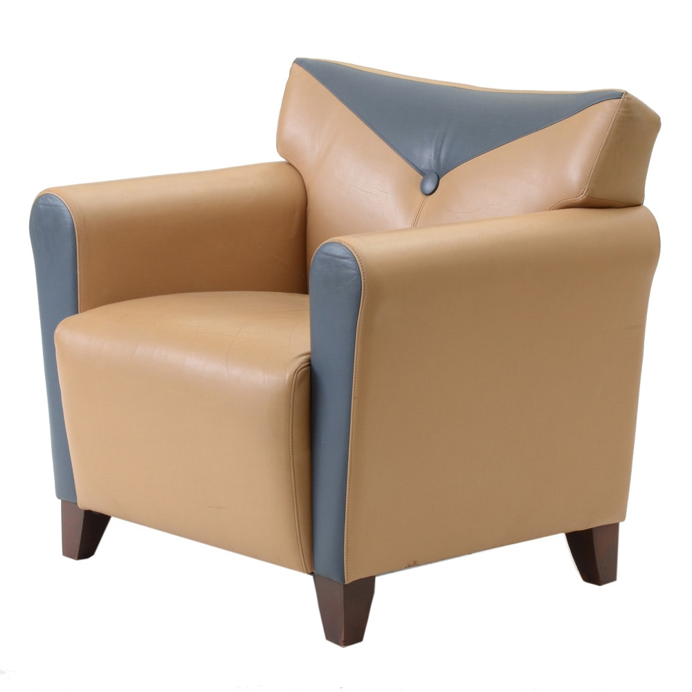 Contemporary Modern Leather Armchair
