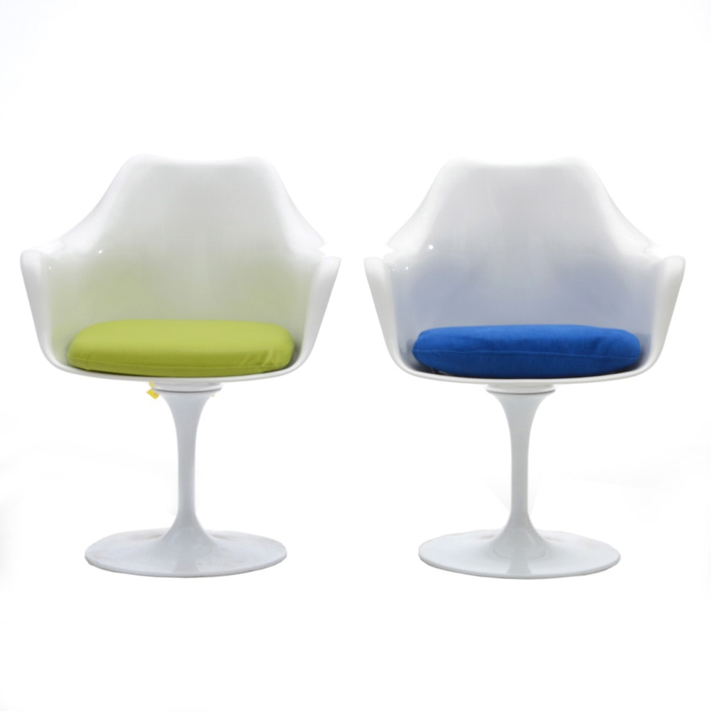 """Pairing of Mid Century Modern Style Modway """"Lippa"""" Armchairs"""