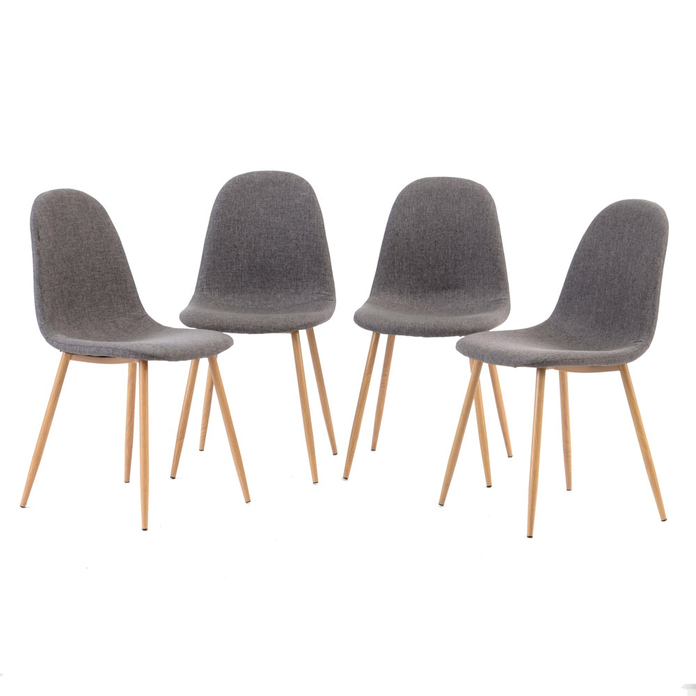 Set of Four Mid-Century Eames Style Chairs