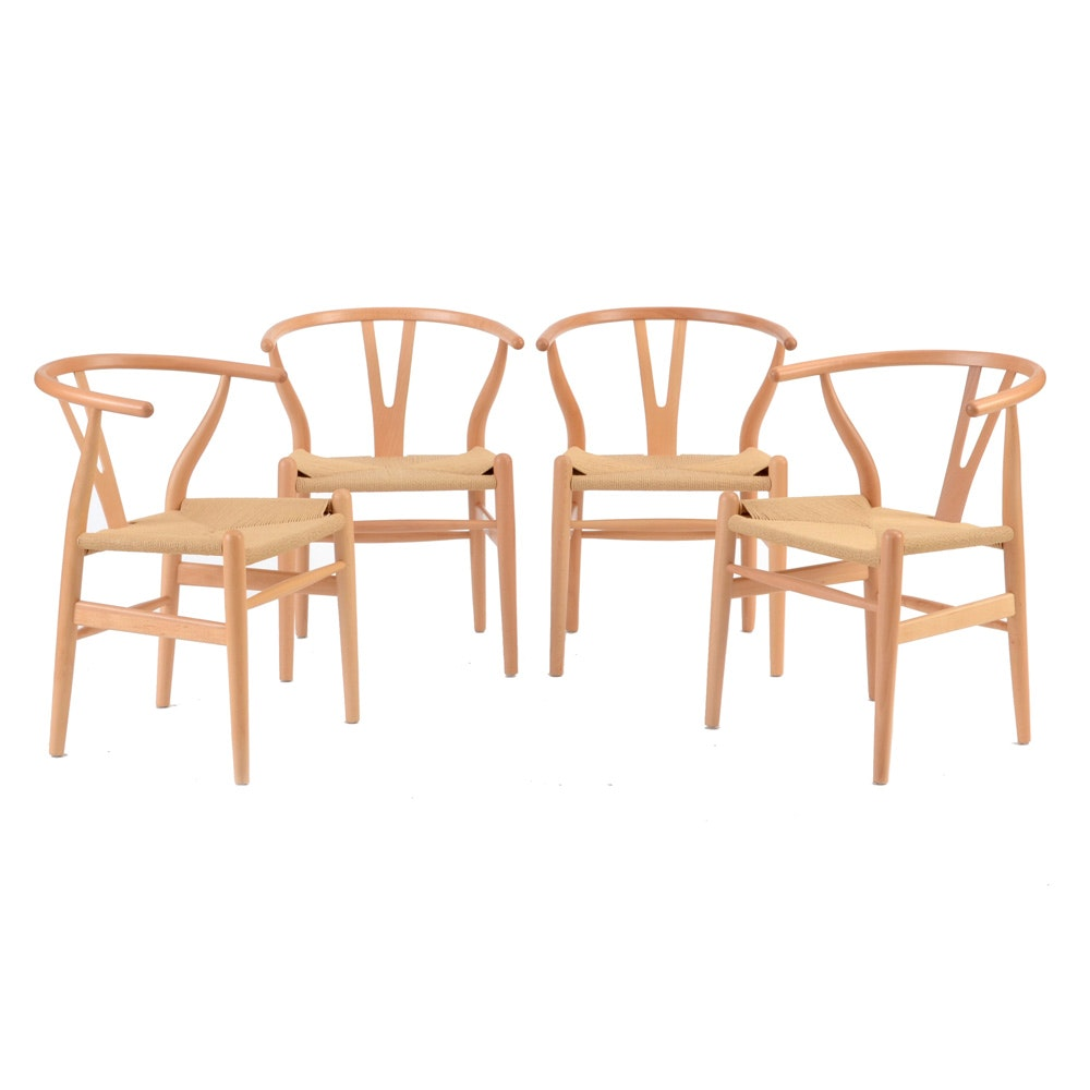 Set Of Four Hans Wegner Style Chairs ...