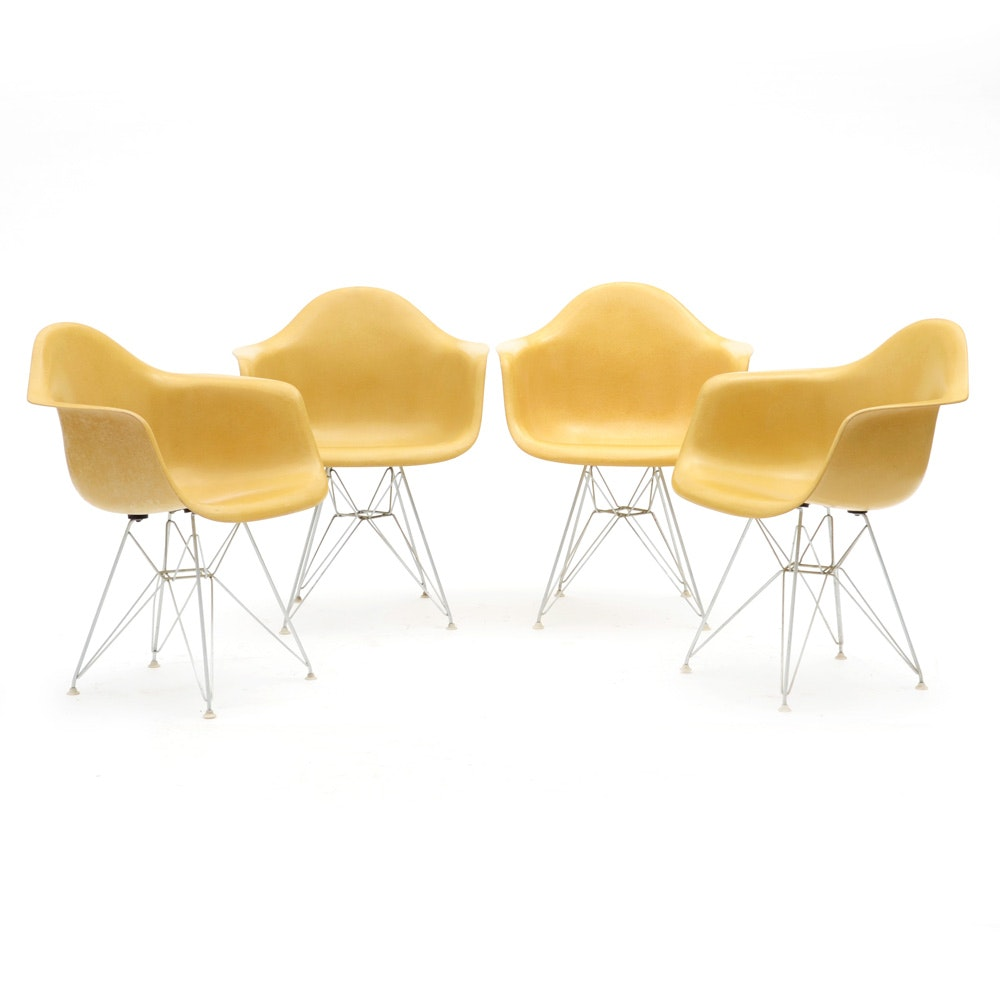 Set of Eames for Herman Miller Fiberglass Shell Chairs