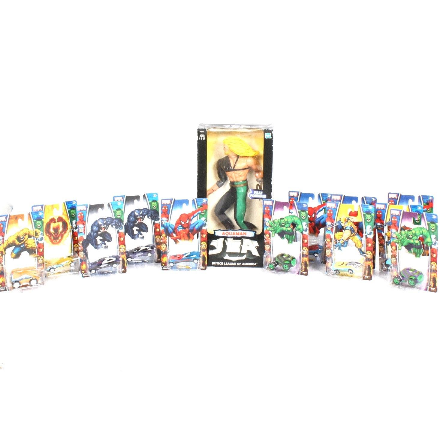 Marvel Heroes and Hasbro Aquaman Collectibles