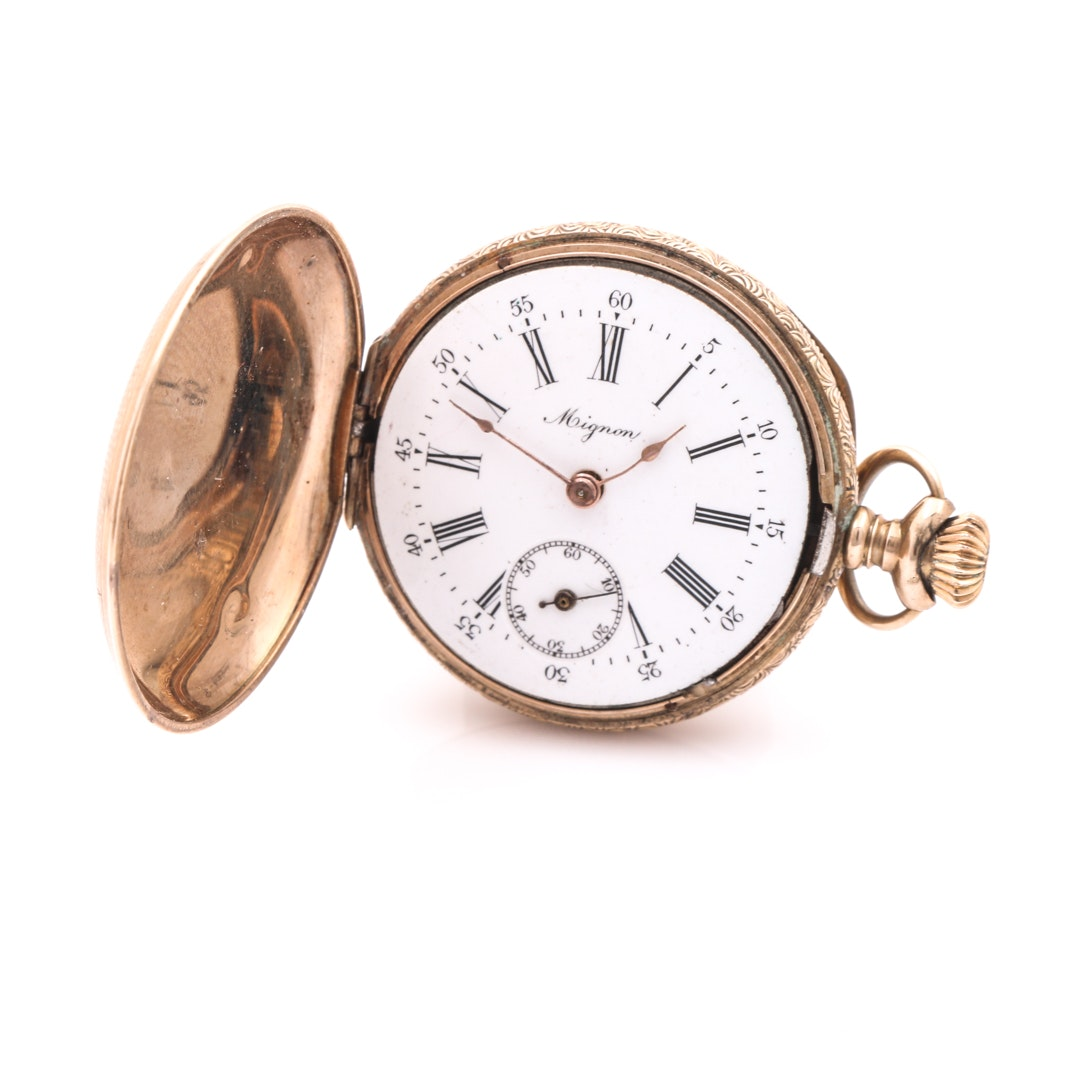 Mignon 14K Yellow Gold Pocket Watch
