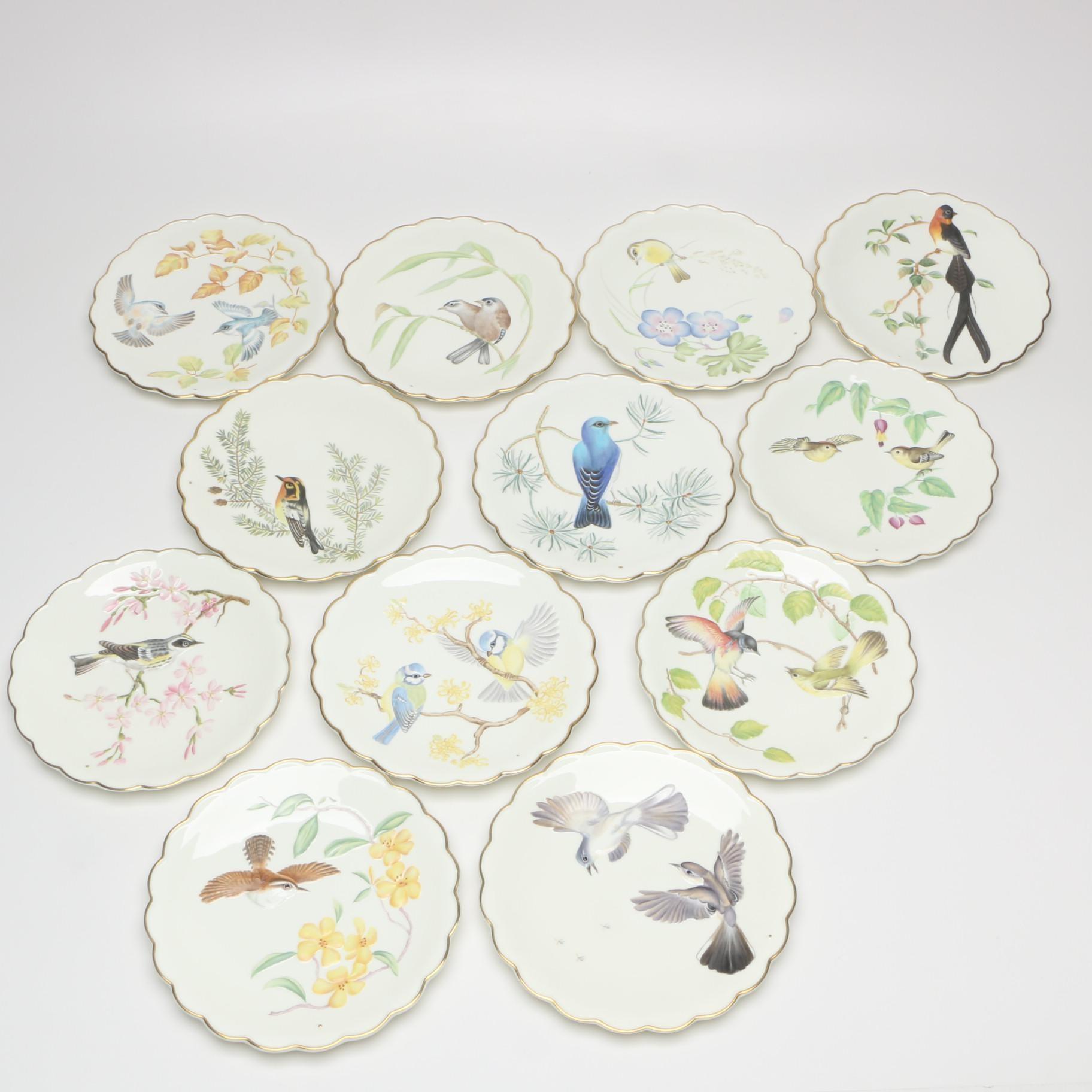 "Royal Worcester ""The Birds of Dorothy Doughty"" Porcelain Dessert Plates"