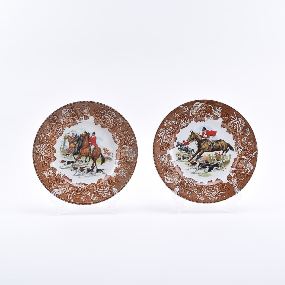 Vintage Wood & Sons Fox Hunting Plates
