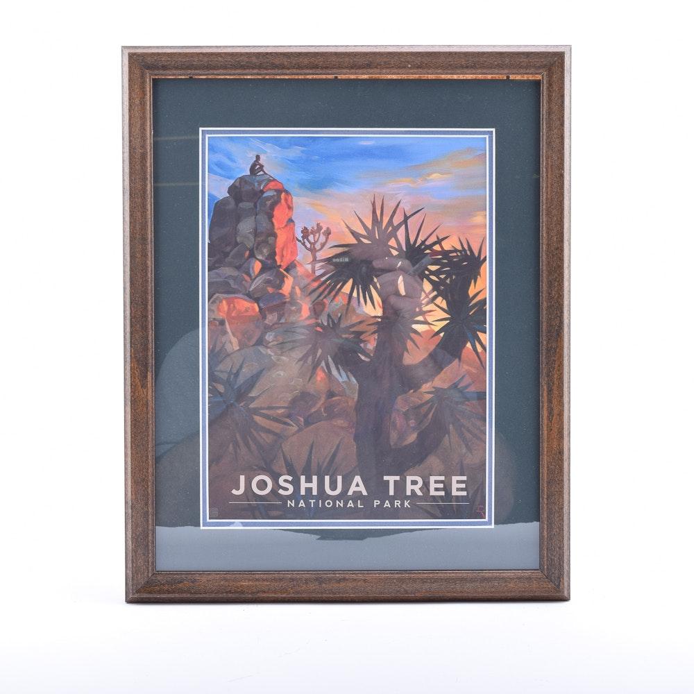 "Offset Lithograph Travel Poster ""Joshua Tree National Park"" after Kai Carpenter"