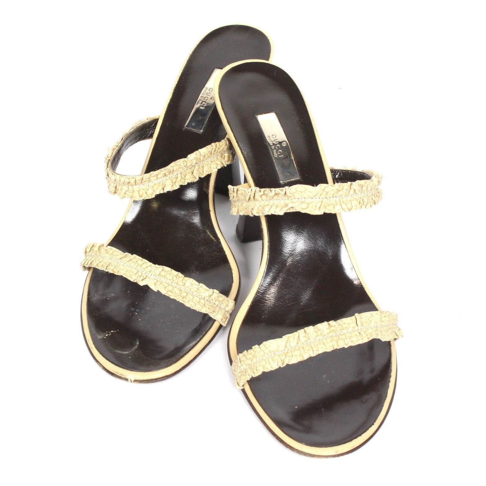 Gucci Dakota Python Heels