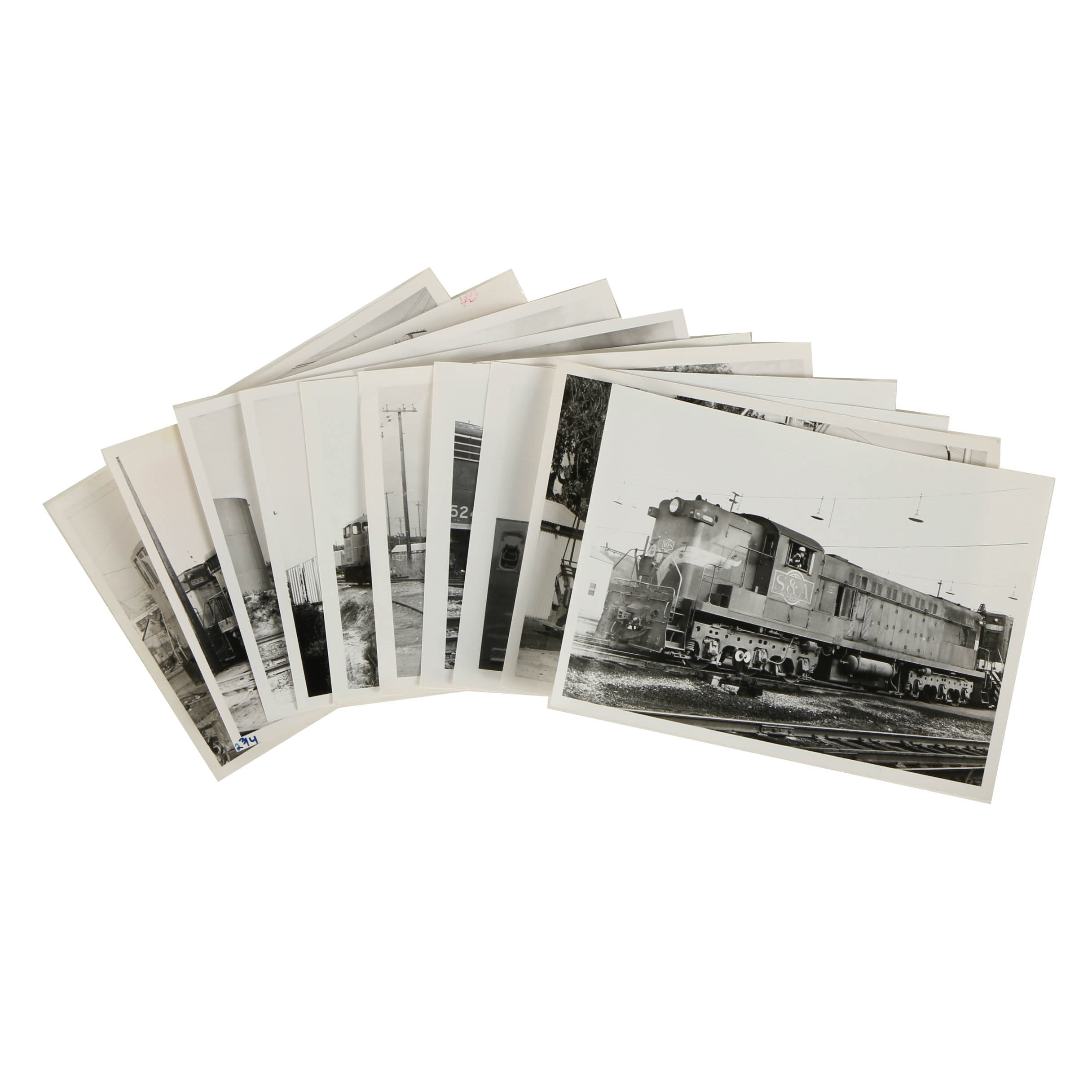 Collection of Late 20th Century Black and White Train Photographs