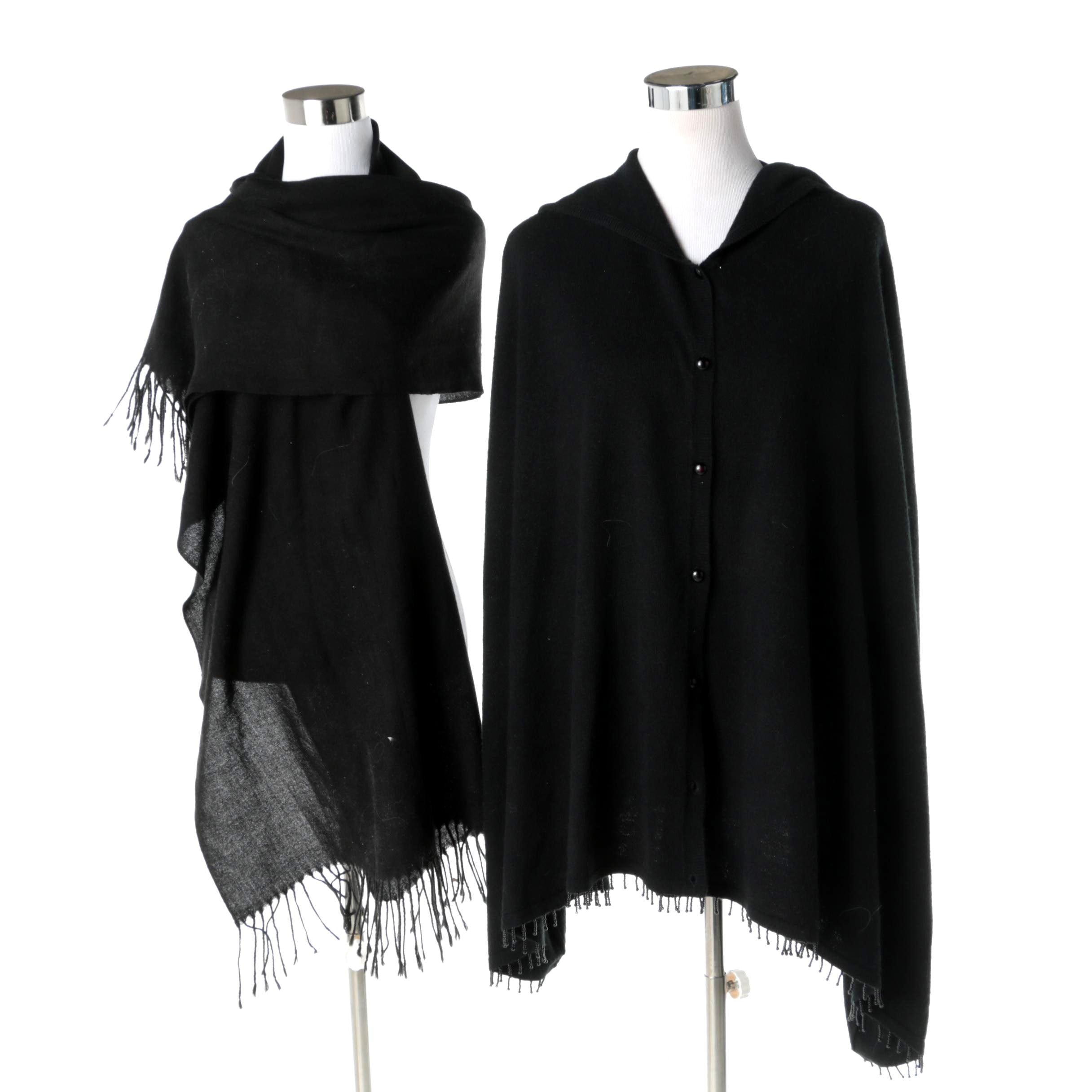 Black Cape and Scarf