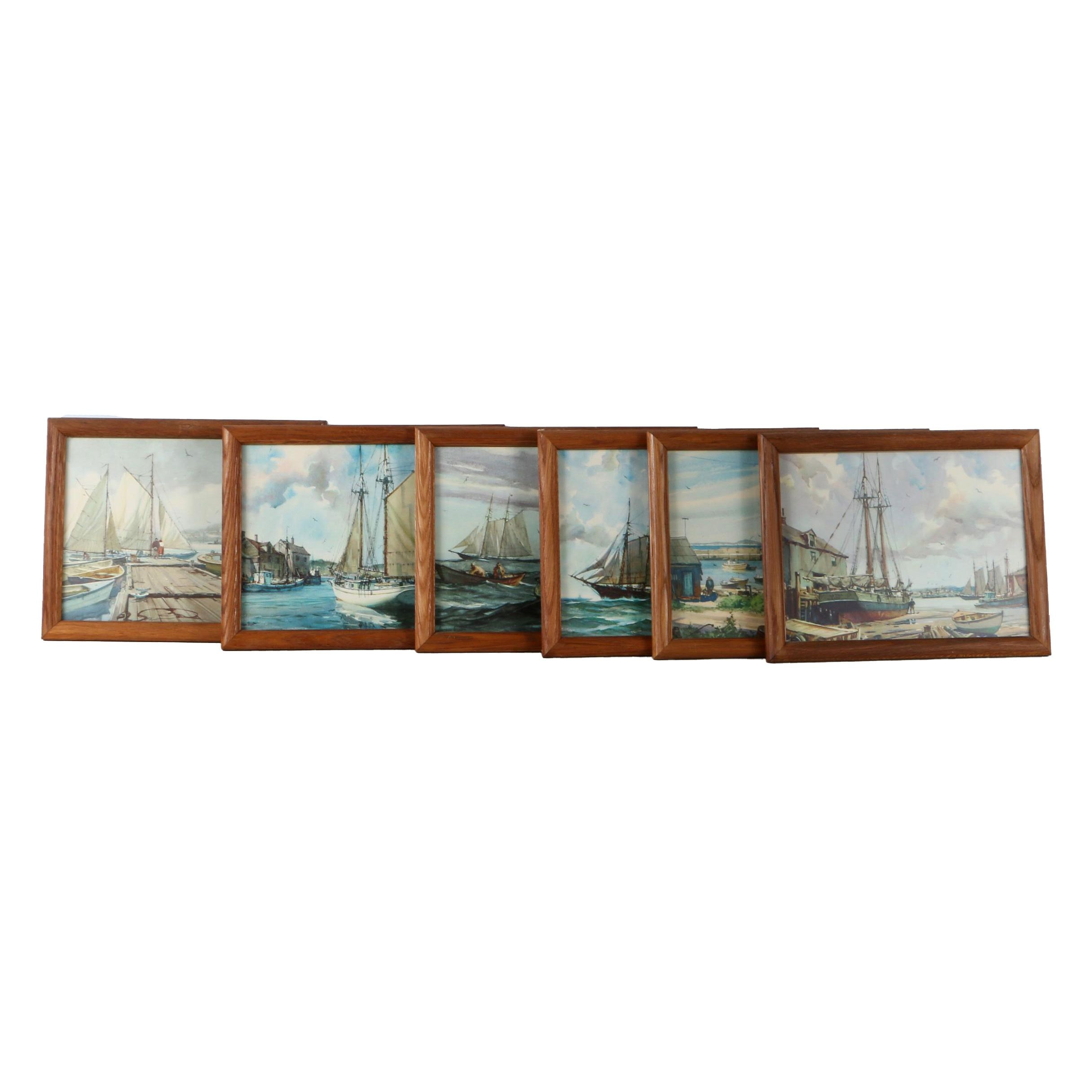Offset Lithographs After Gordon Grant of Maritime Scenes