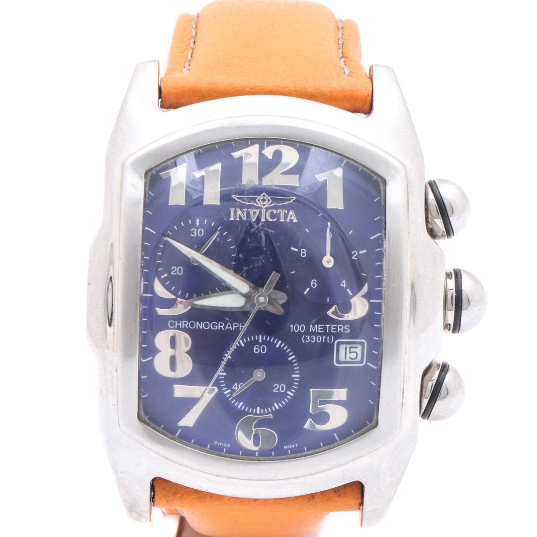Invicta Silver Tone Chronograph Wristwatch