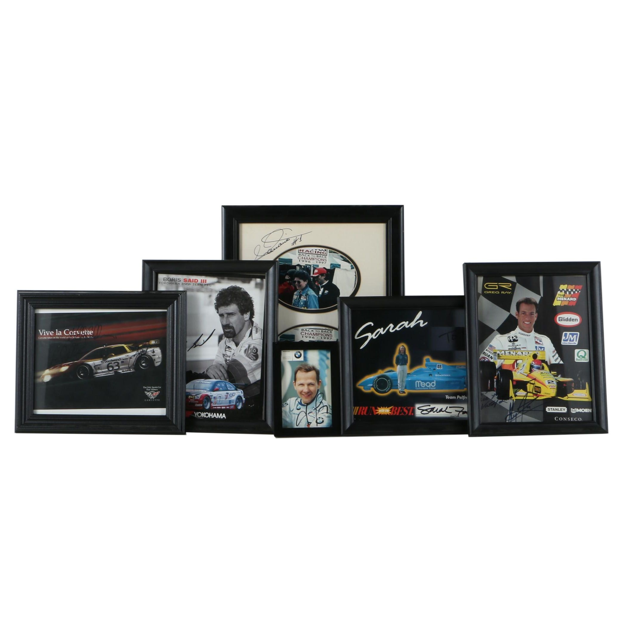 Autographed Offset Lithograph Posters of Race Car Drivers