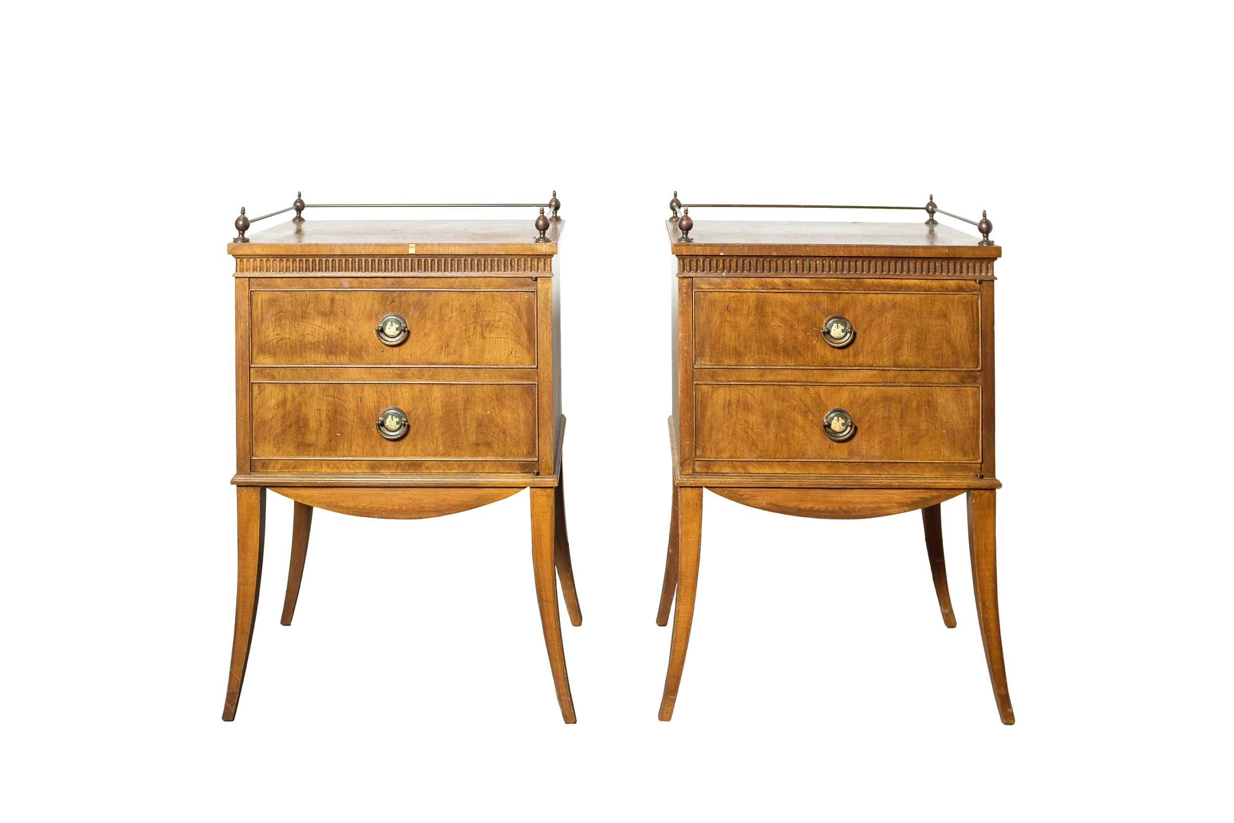 Pair of Vintage Neoclassical Style Bedside Tables