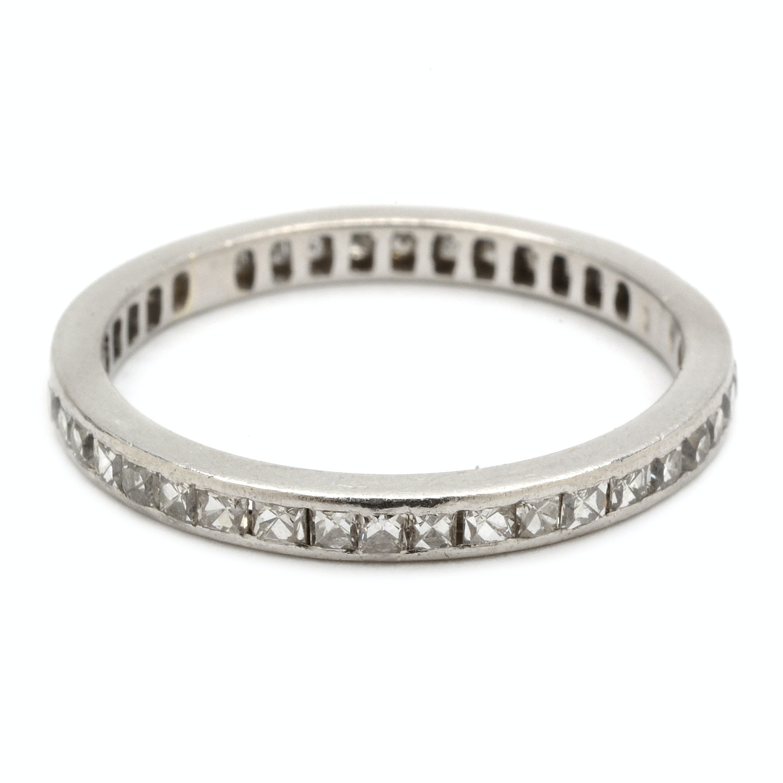 Platinum French Cut 1.00 CTW Diamond Eternity Ring