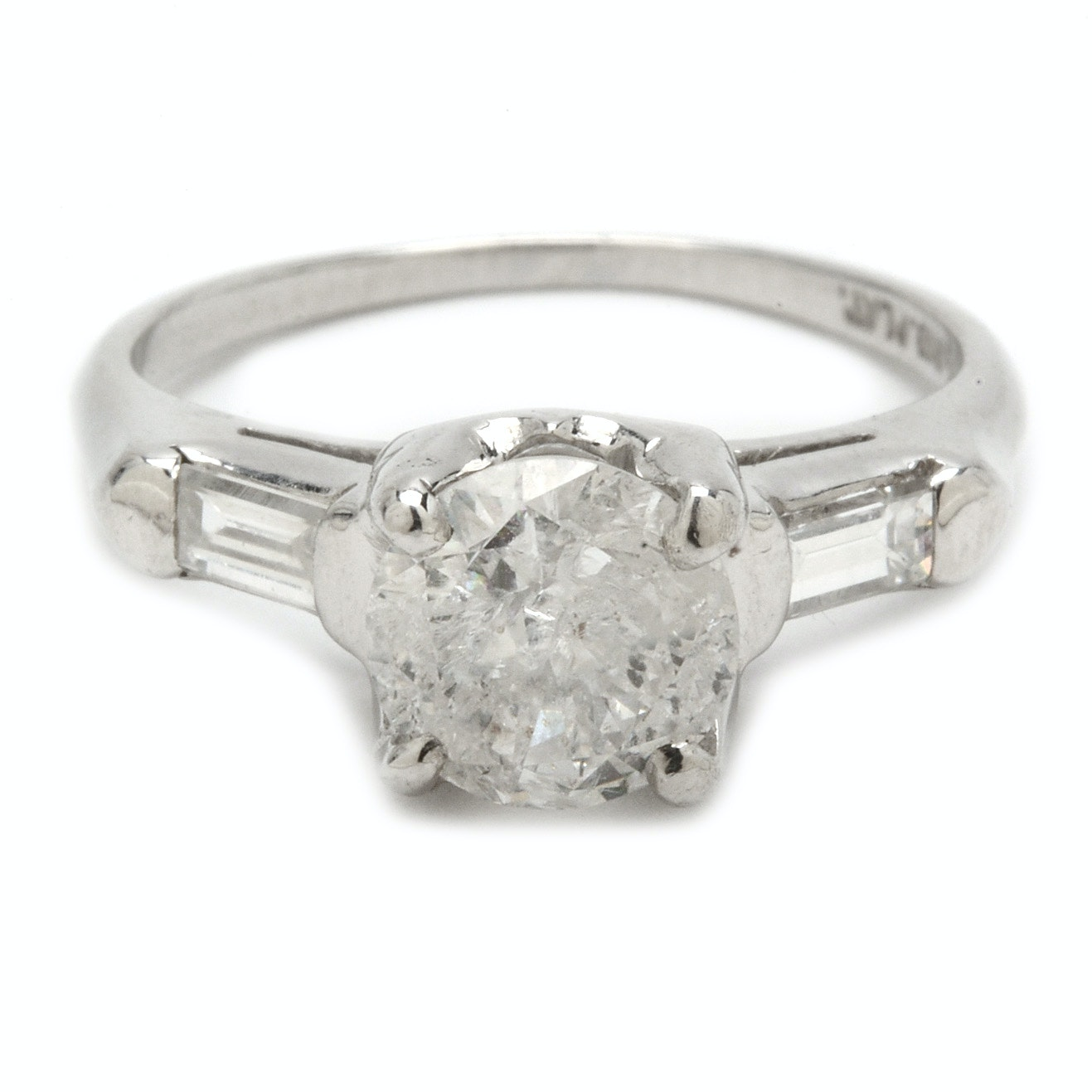 Platinum 1.03 CT Diamond Ring