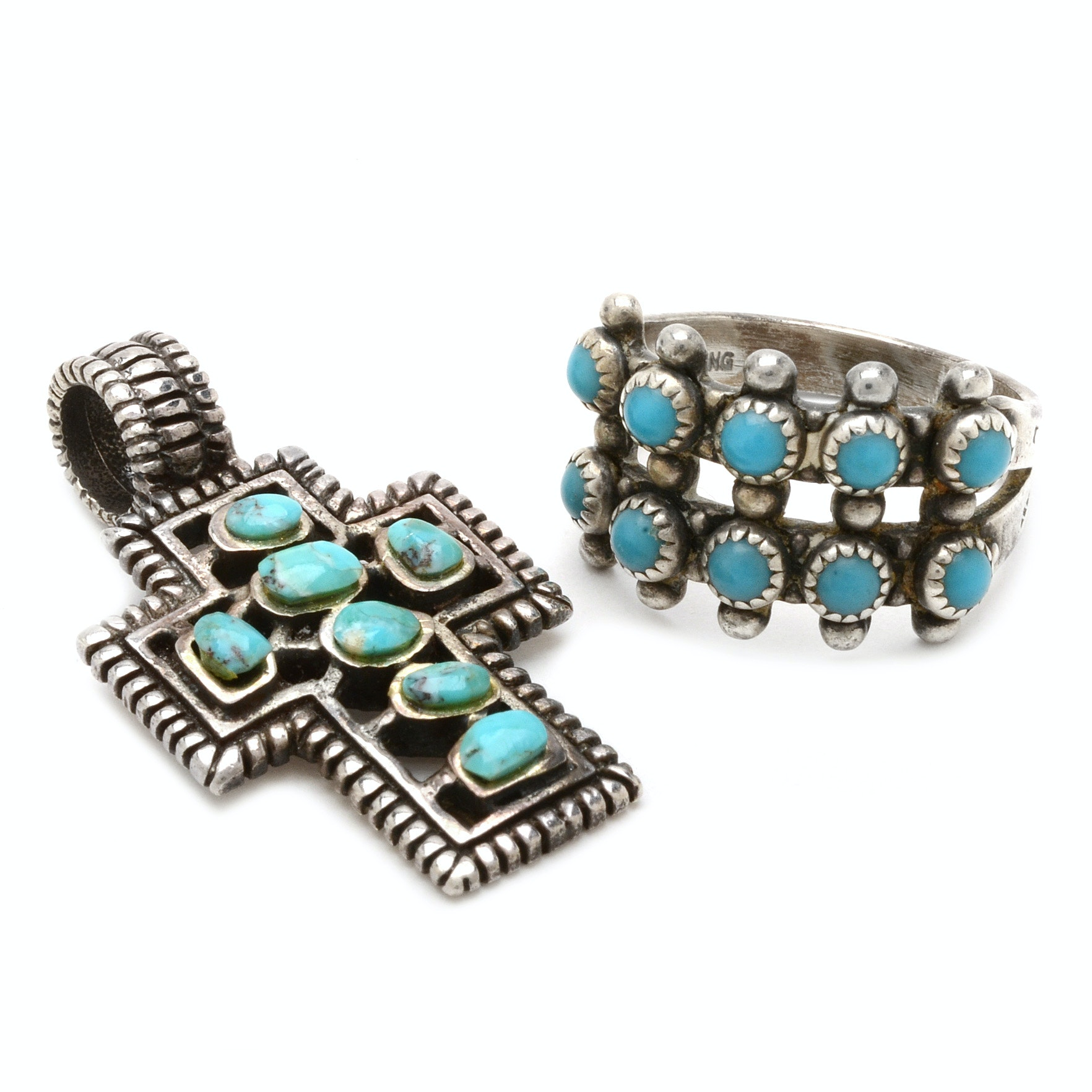 Southwest Style Sterling Silver and Turquoise Jewelry