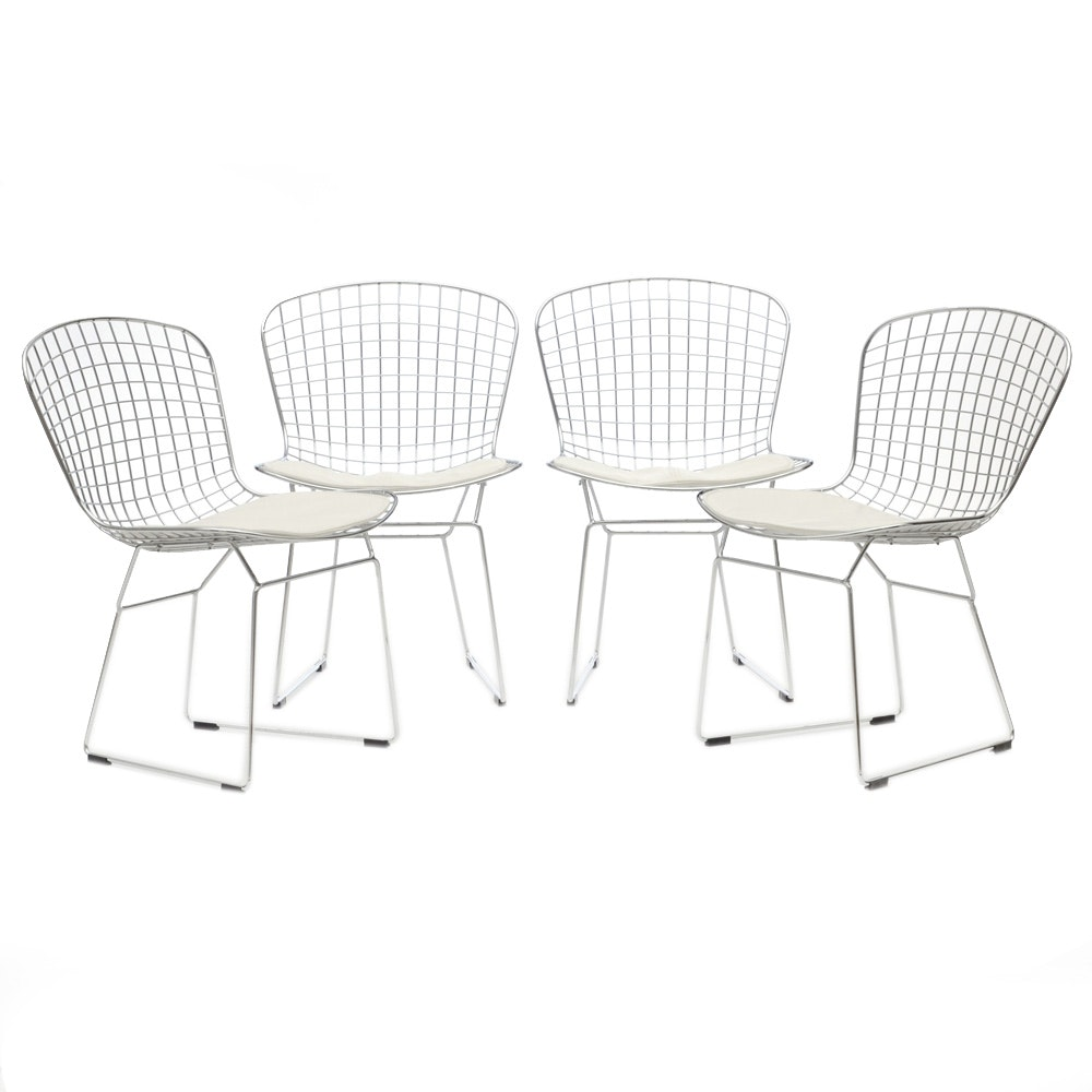 Set of Four Bertoia Style Side Chairs