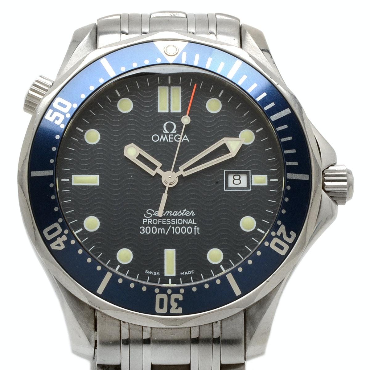 Omega Seamaster Stainless Steel Quartz Wristwatch