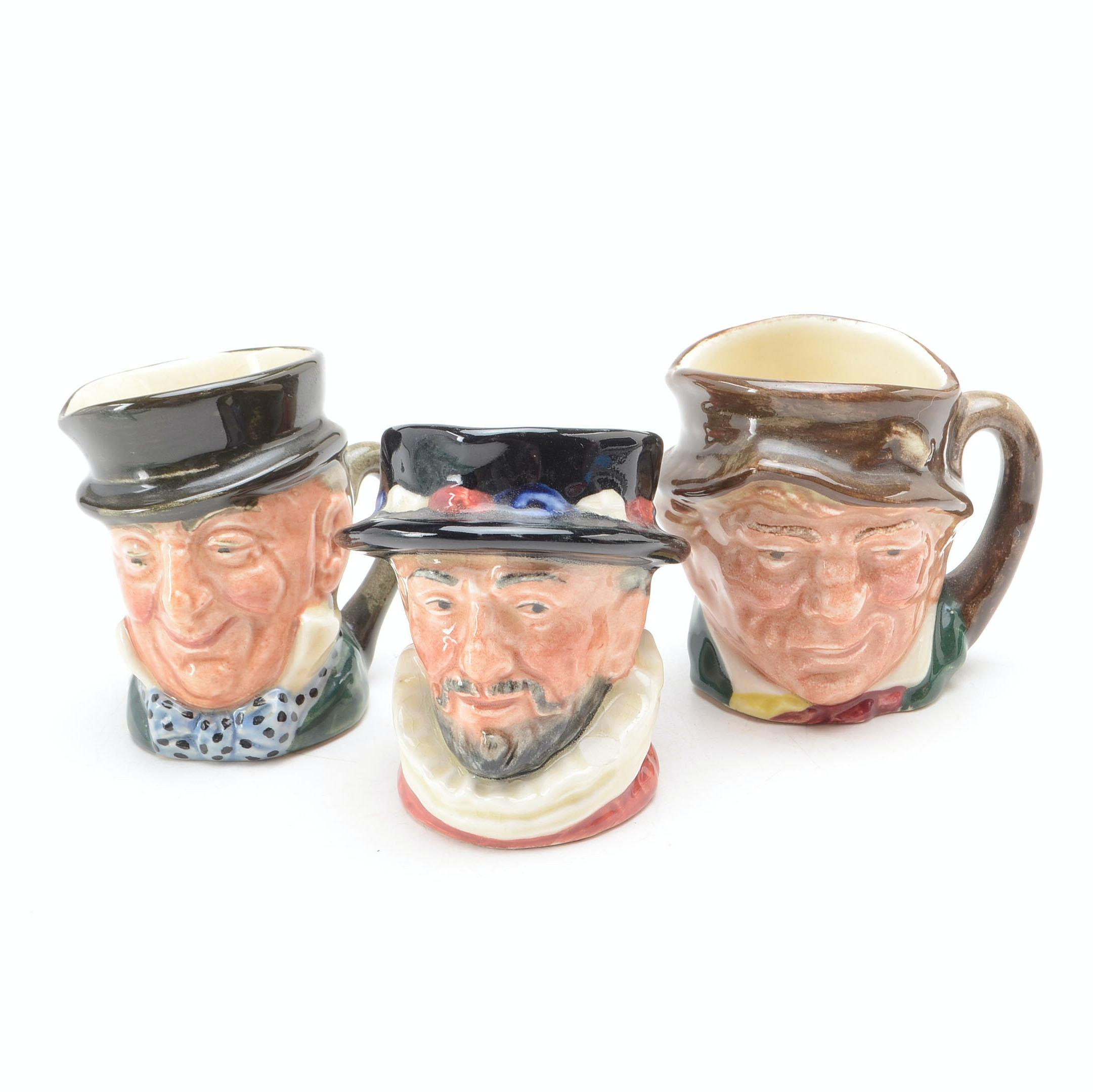 Small Group of Miniature Royal Doulton Toby Mugs