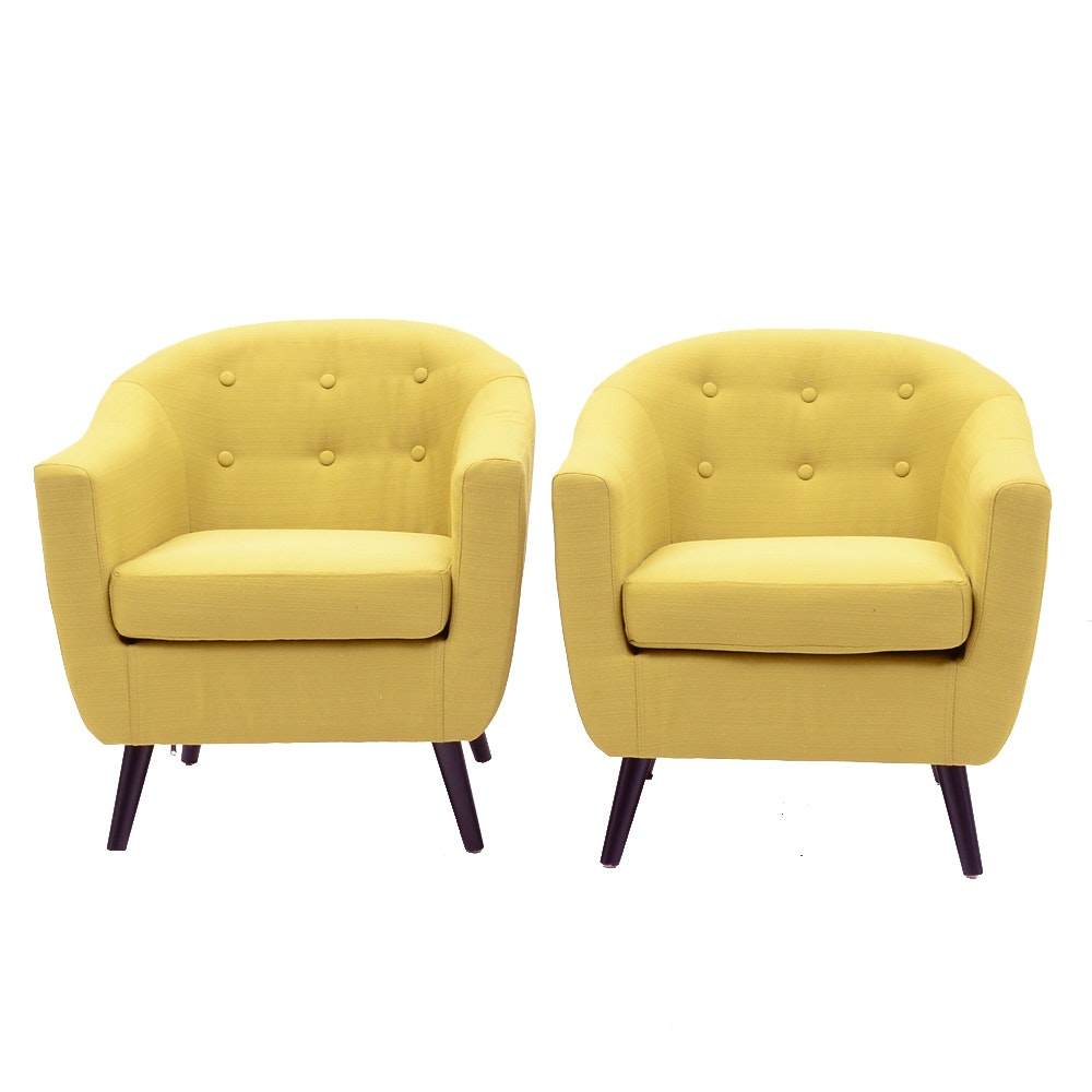 Pair of Contemporary Modern Armchairs by Modway