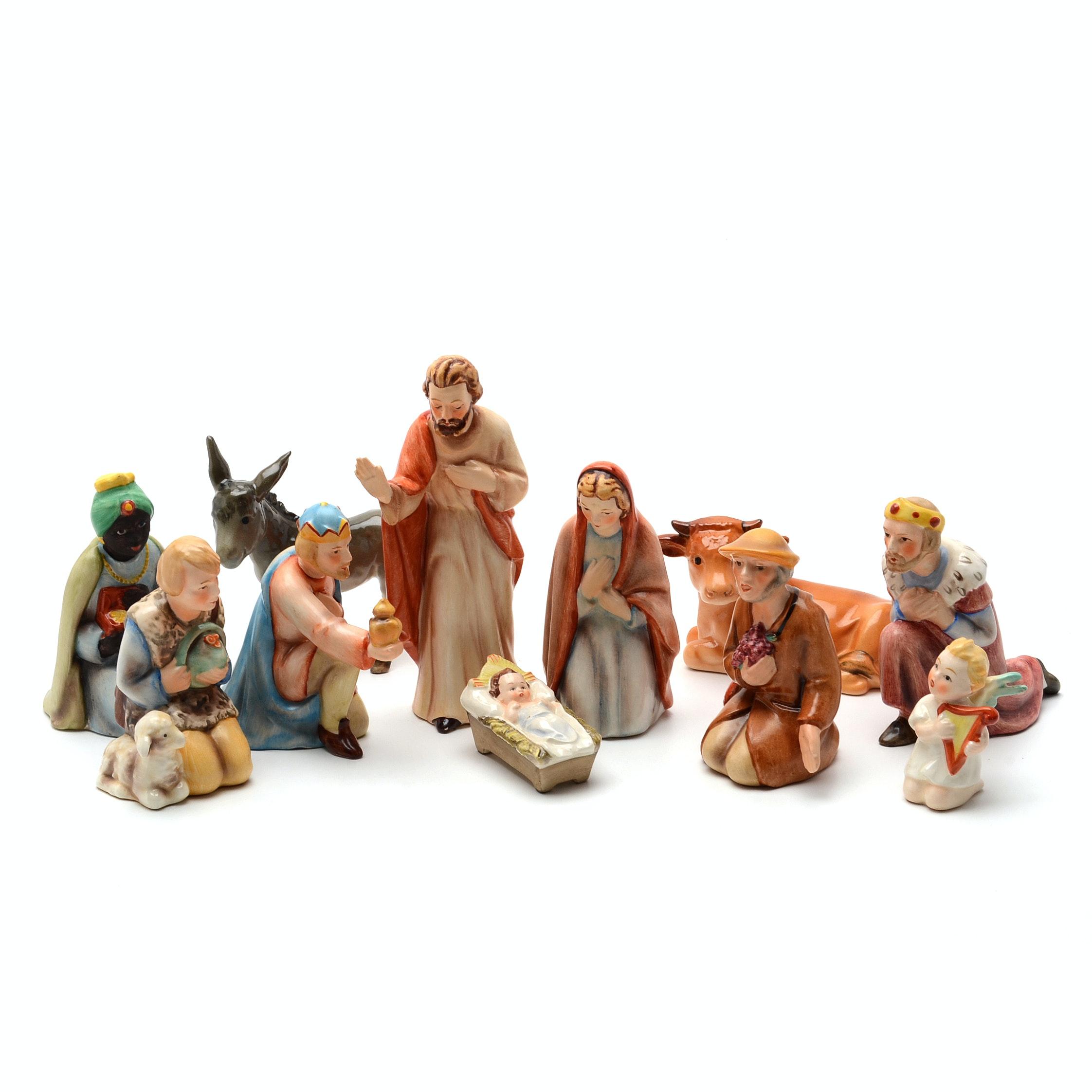 Vintage Goebel Porcelain Nativity Figurines