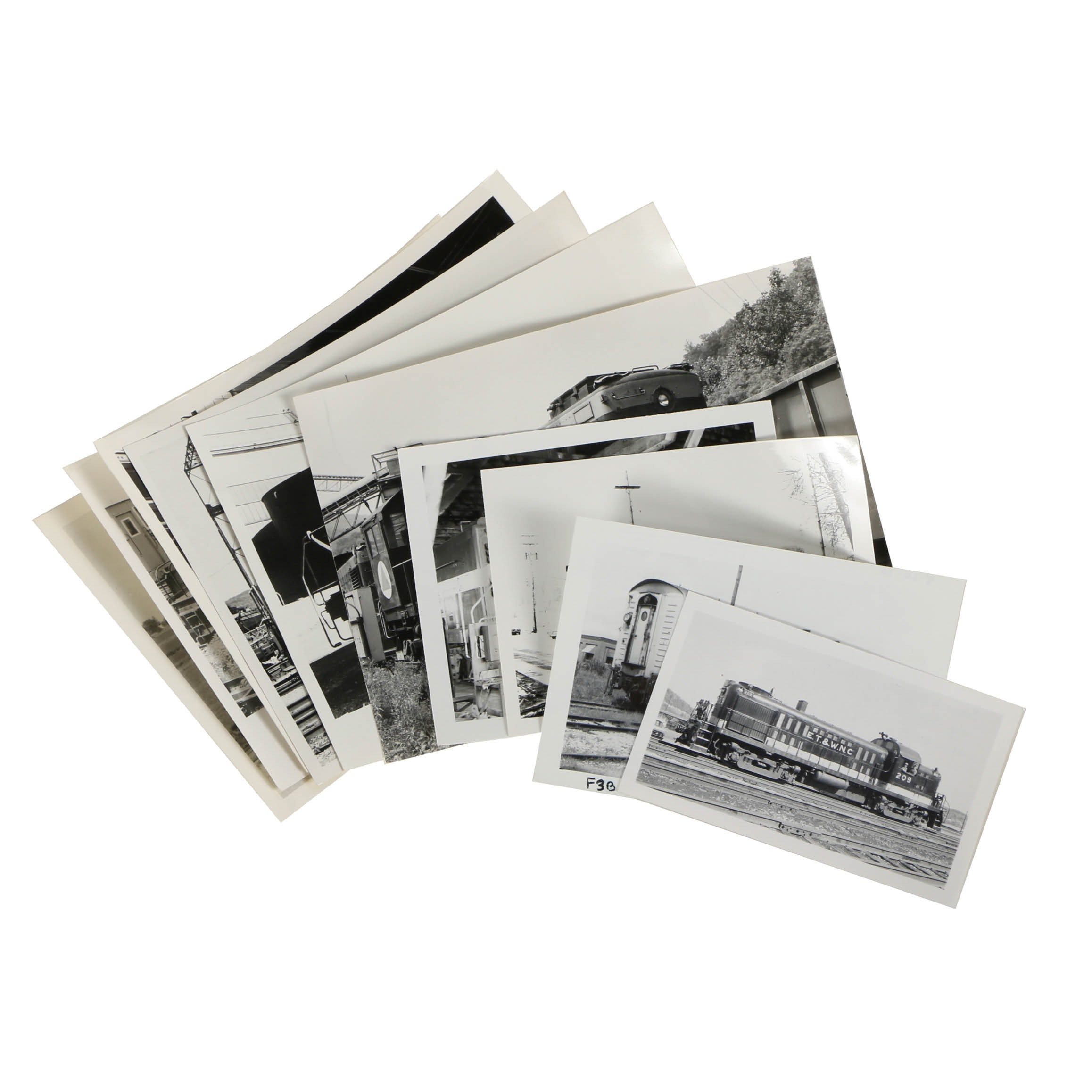 Assortment of Late 20th Century Black and White Train Photographs