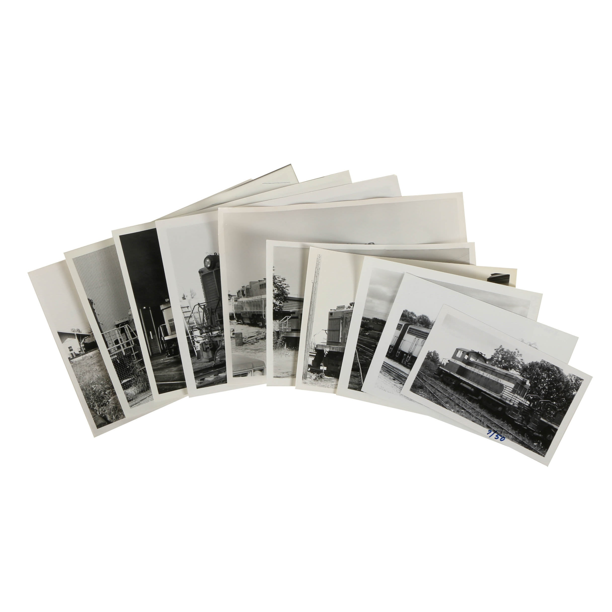 Variety of Late 20th Century Black and White Train Photographs