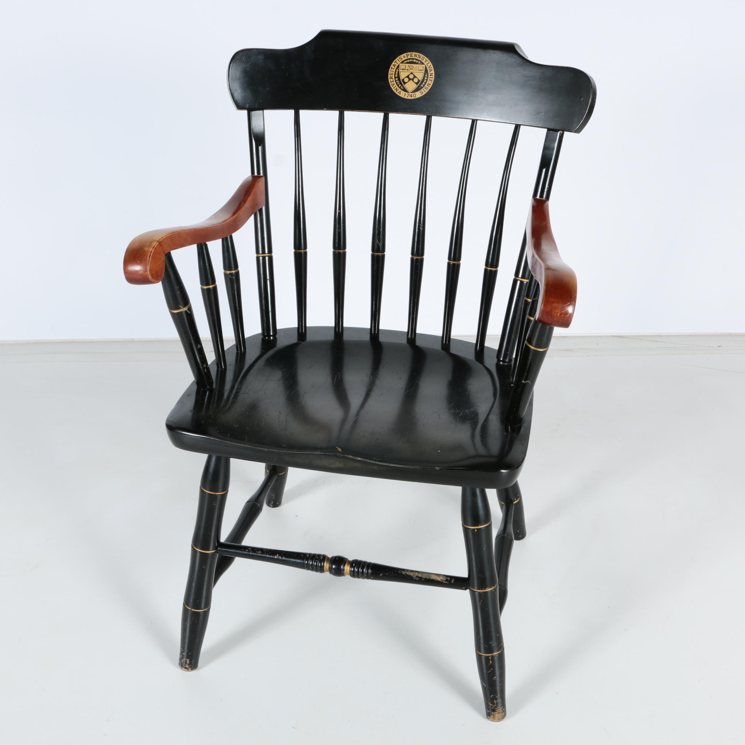Windsor Style Armchair with University of Pennsylvania Seal