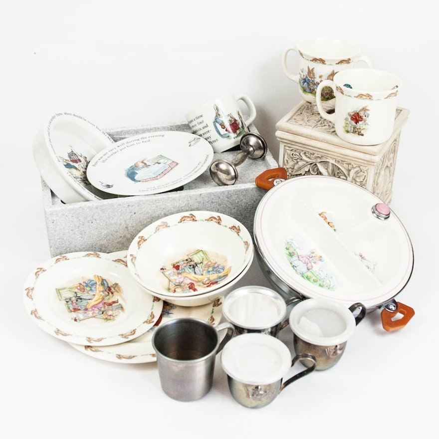 Wedgwood S Peter Rabbit Nursery Set And Other Tableware
