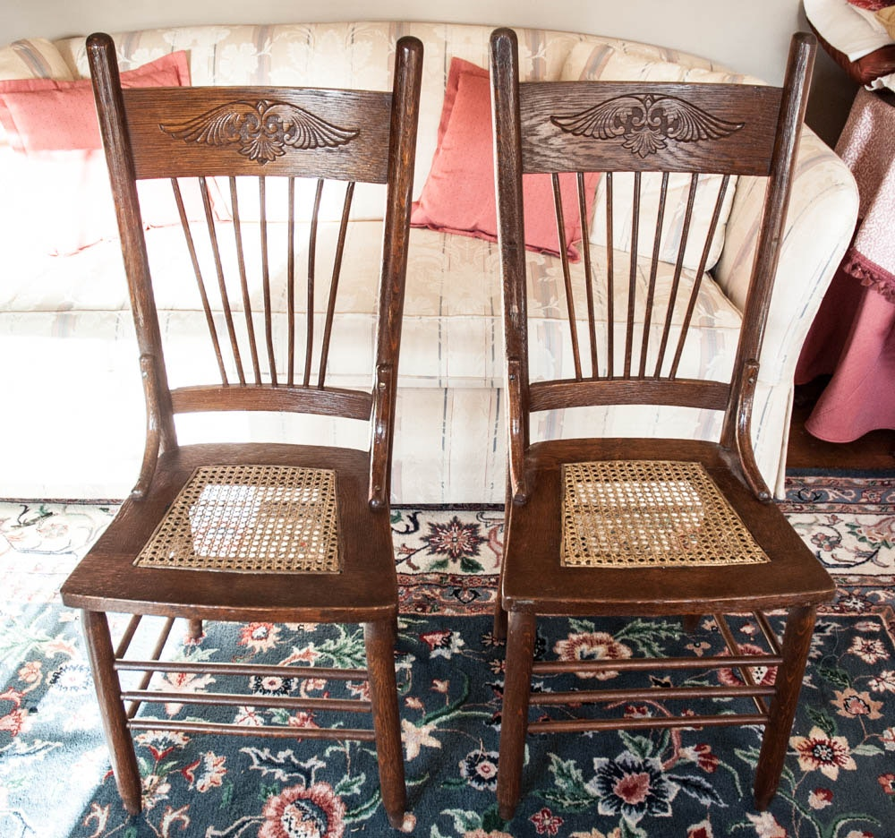 Vintage Cane Seat Chairs