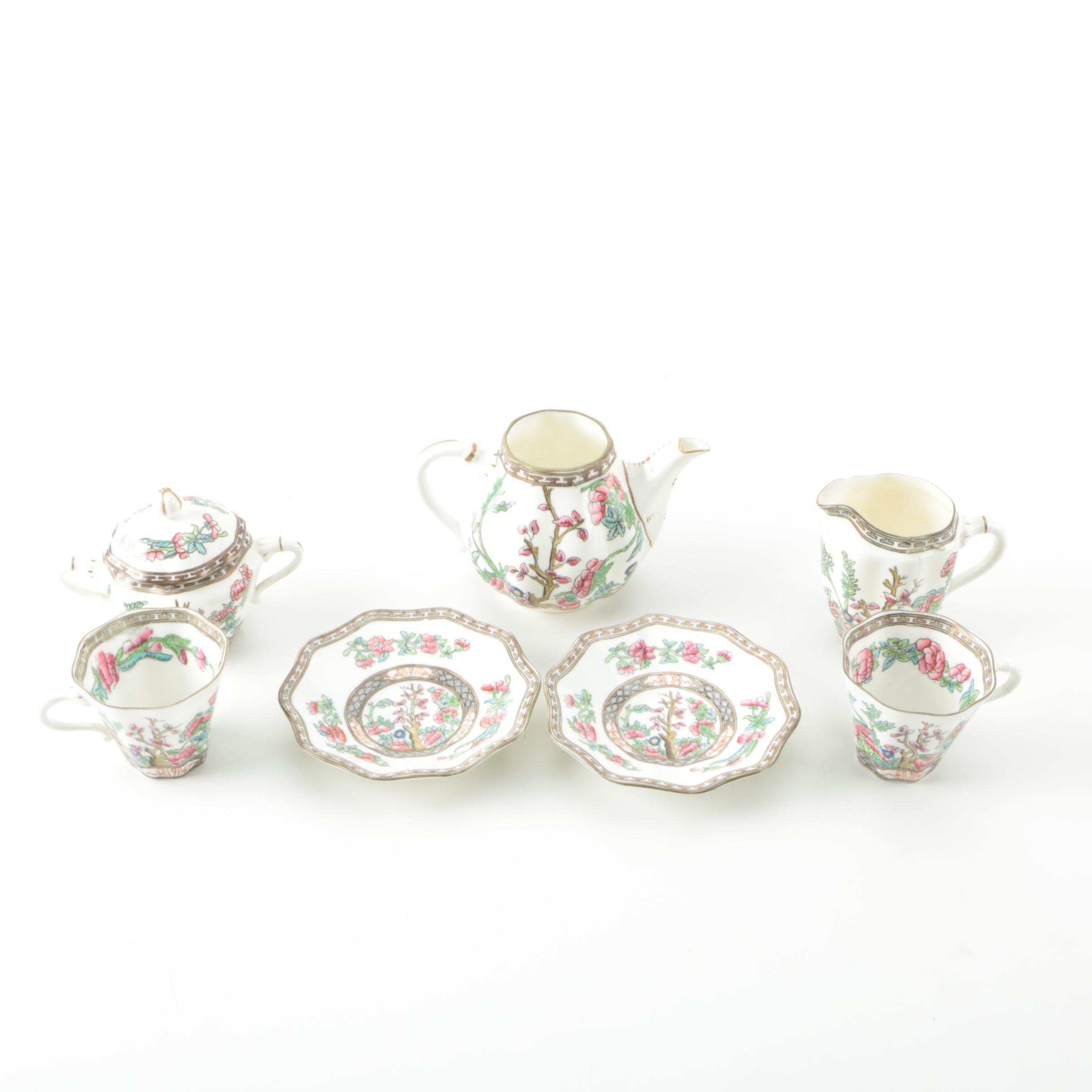 "Early 20th Century Coalport ""Indian Tree"" Porcelain Tea Service"