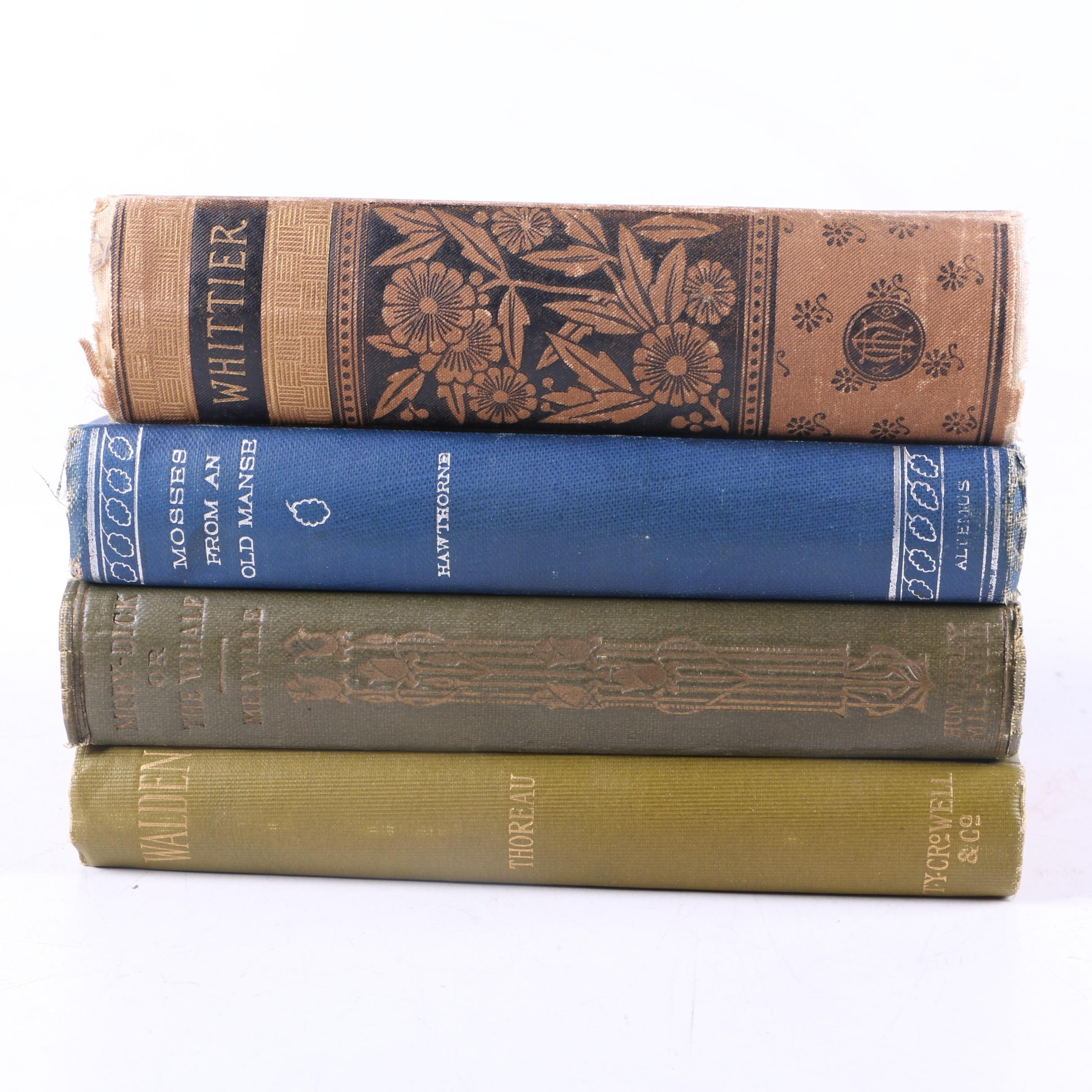 "Assortment of Antique Fiction and Poetry Including ""Walden"""