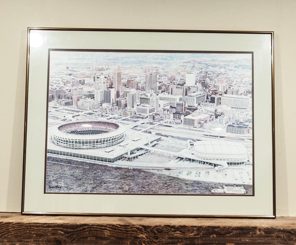 "Steve Ford Print of ""Cincinnati the Queen City"""