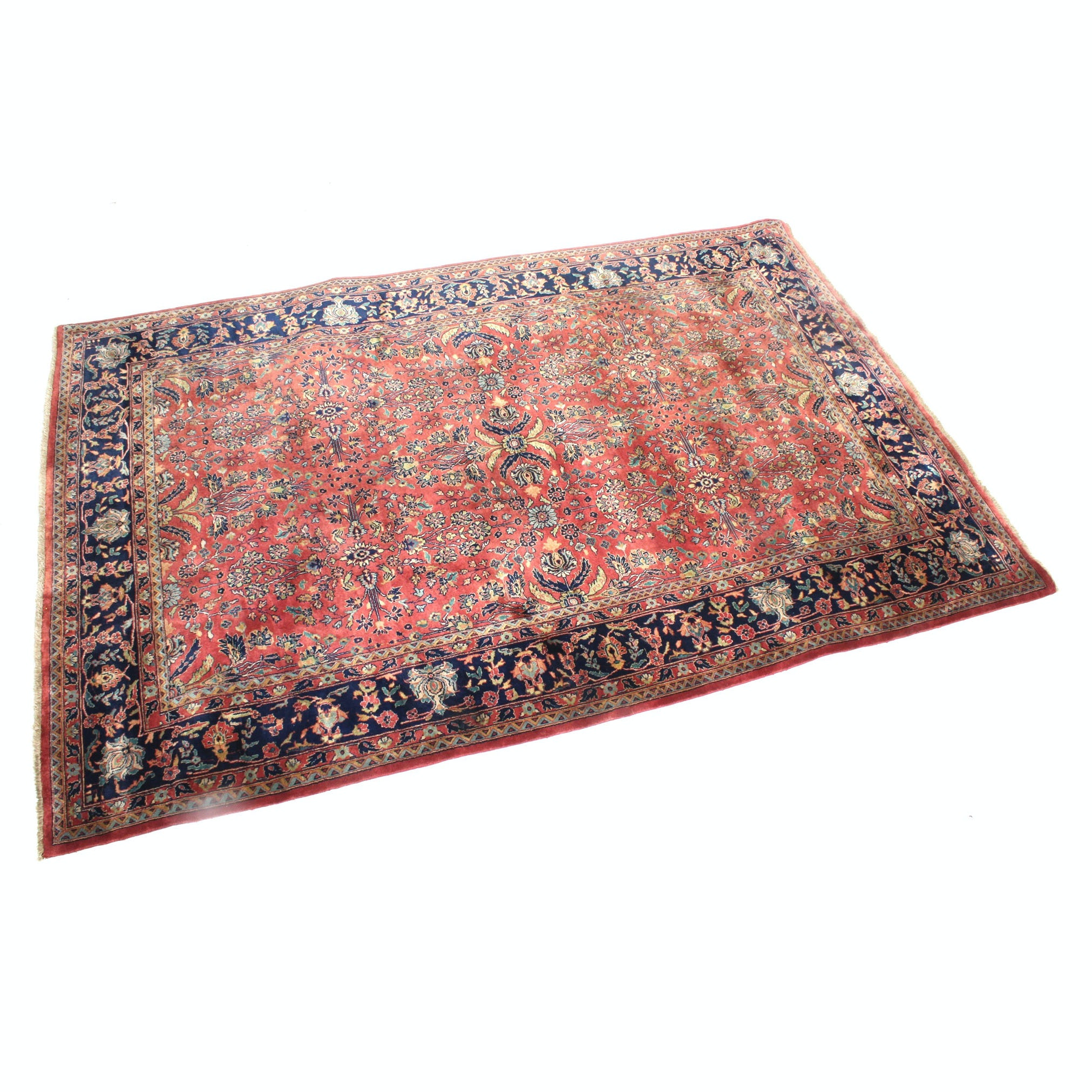 Hand-Knotted Persian Sarouk Room Size Rug