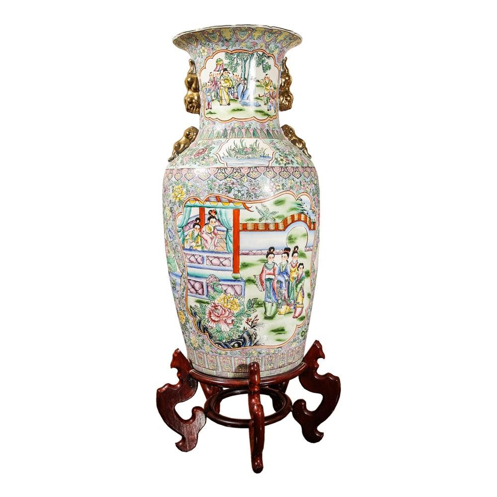 Asian Style Floor Vase