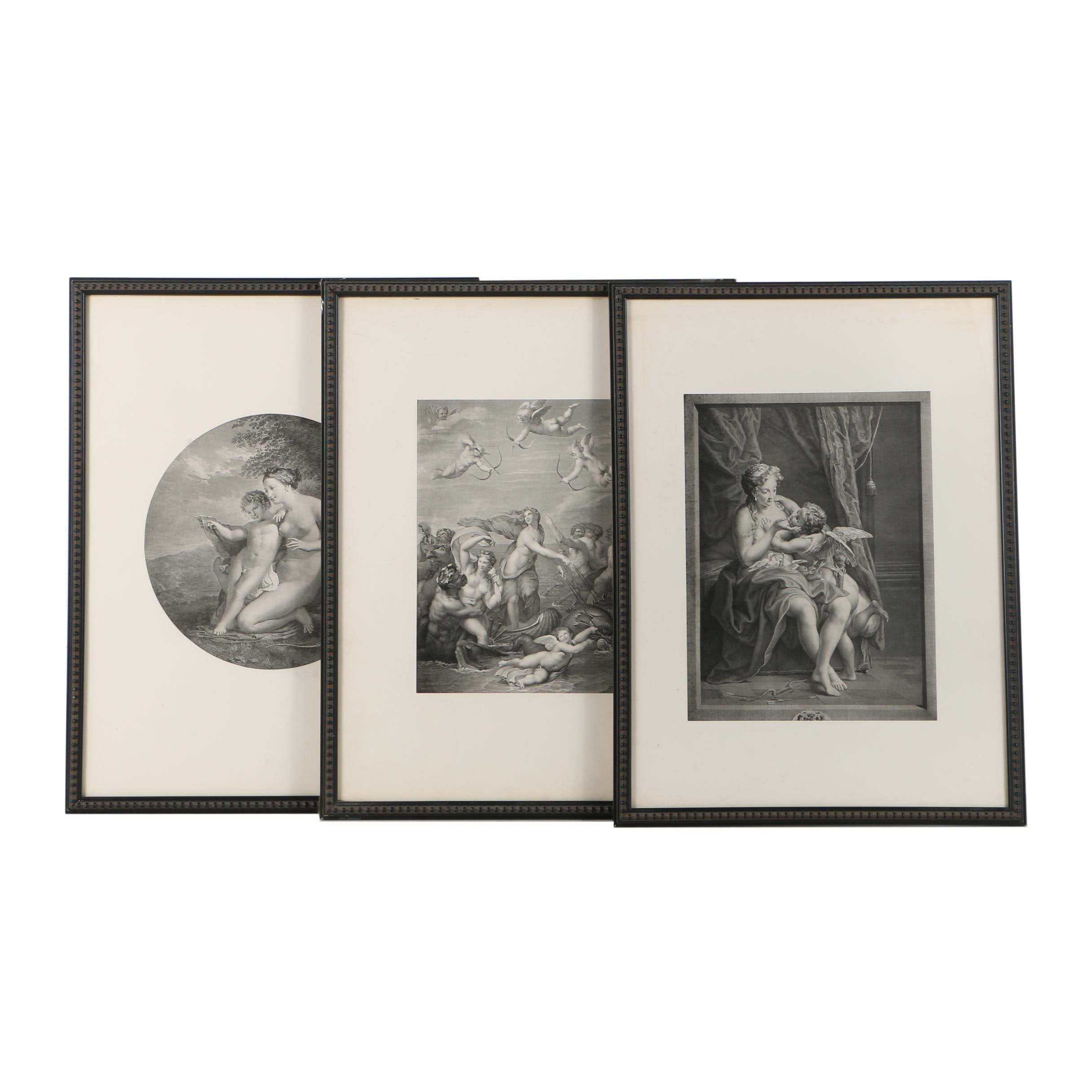 """Lithographs on Paper After Engravings Featuring """"Venus and Cupid"""""""