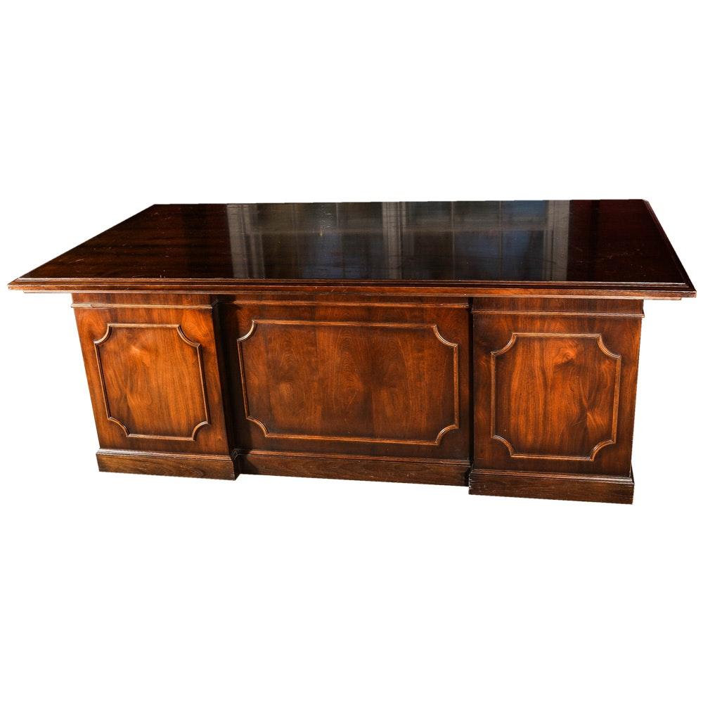 Walnut Executive Desk by Kimball