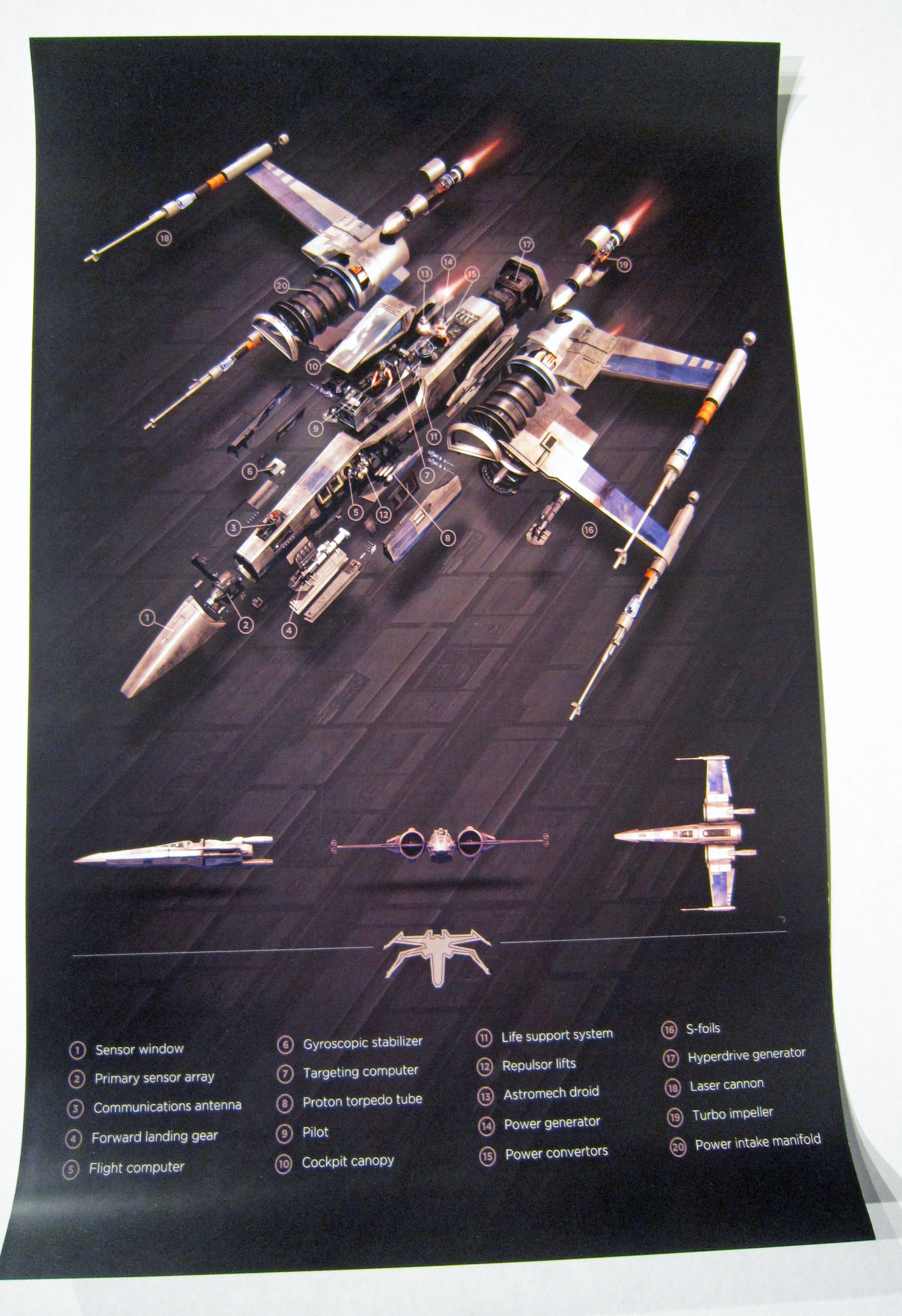 X- Wing Fighter Exploded View Star Wars Artwork