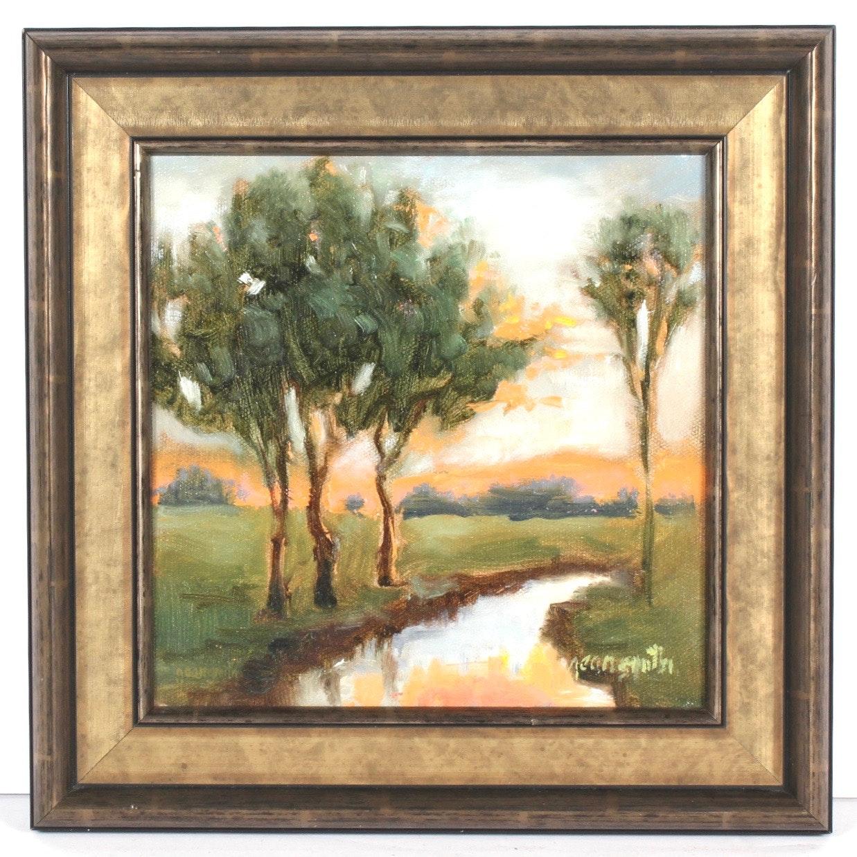 "Jean Smith ""Mystical Scene"" Oil on Canvas"