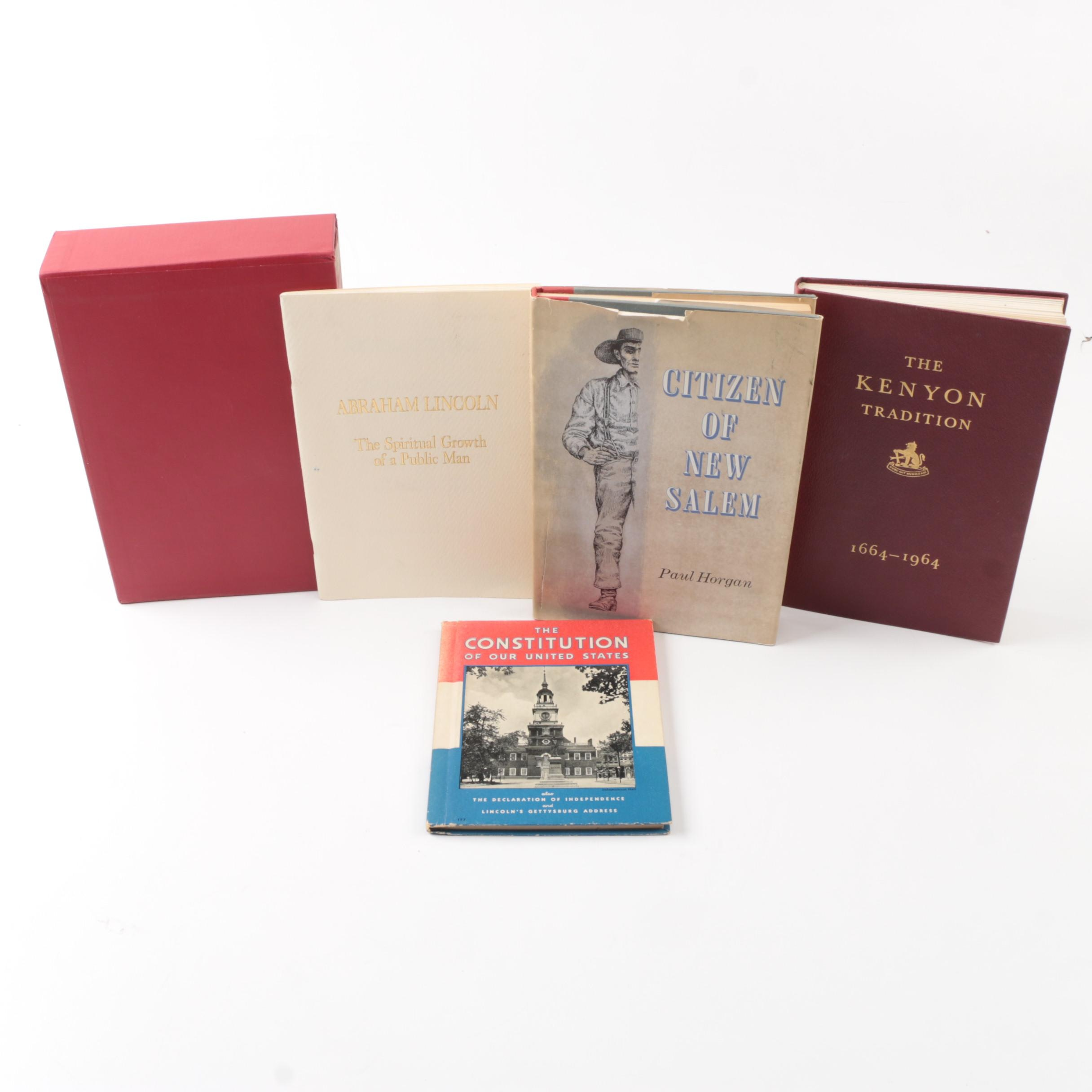 Collection of Hardcover Books on U.S. History
