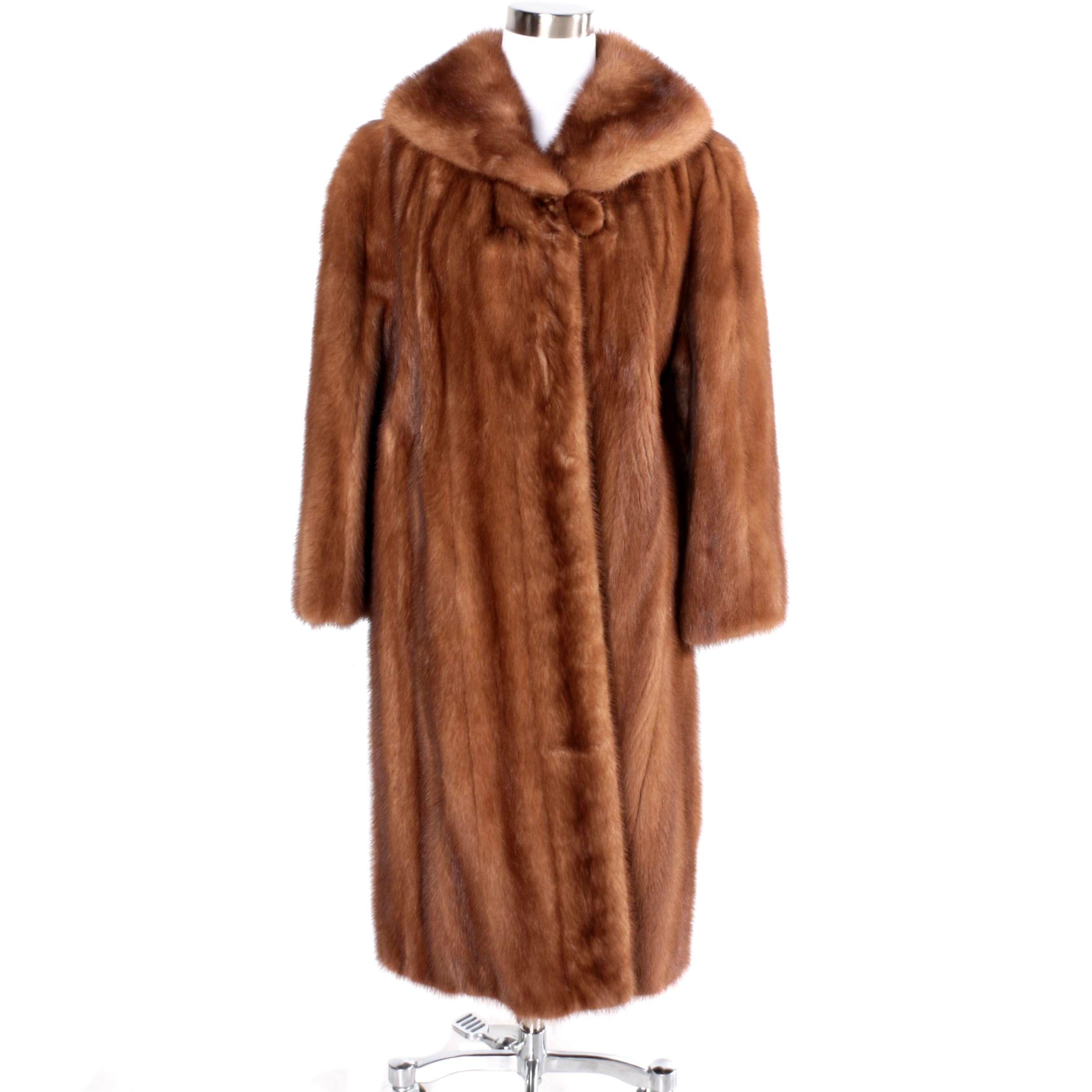 Vintage Emba Pastel Mink Fur Swing Coat from Annis Furs