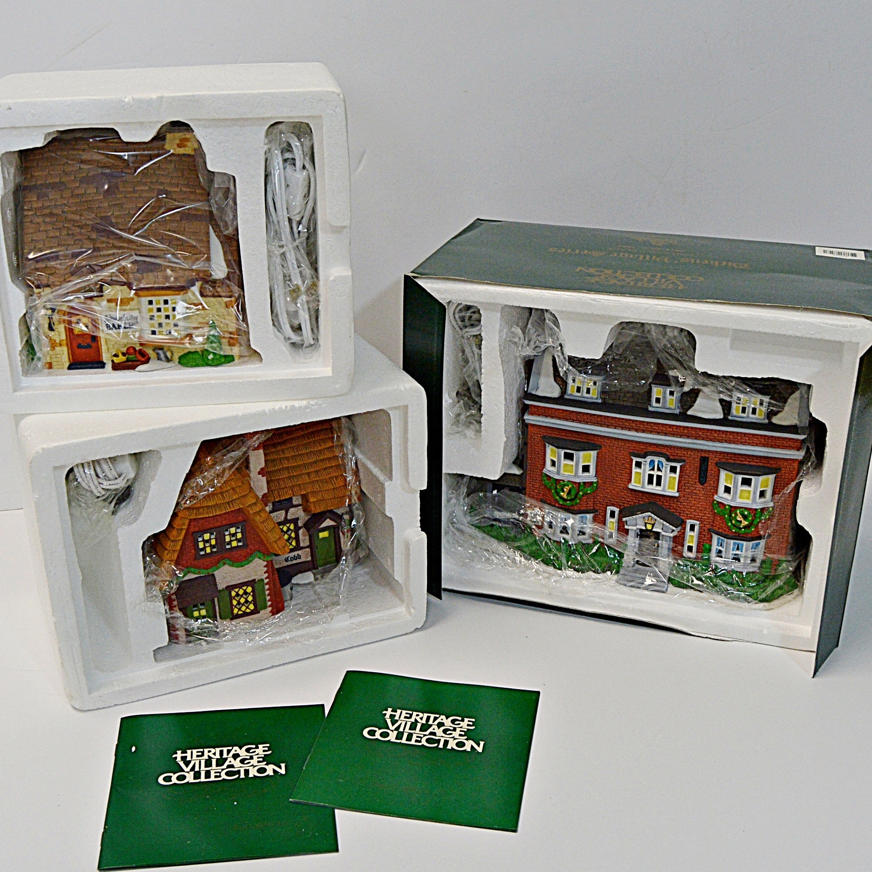 Dept. 56 Dicken's Village Series Lighted Porcelain Houses