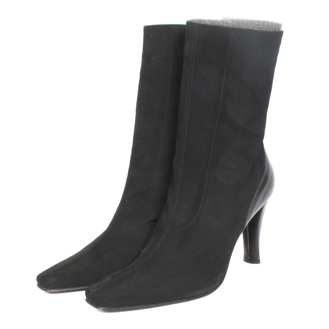 """Donald J Pliner """"Sleek"""" Black Mid-Calf Boots"""