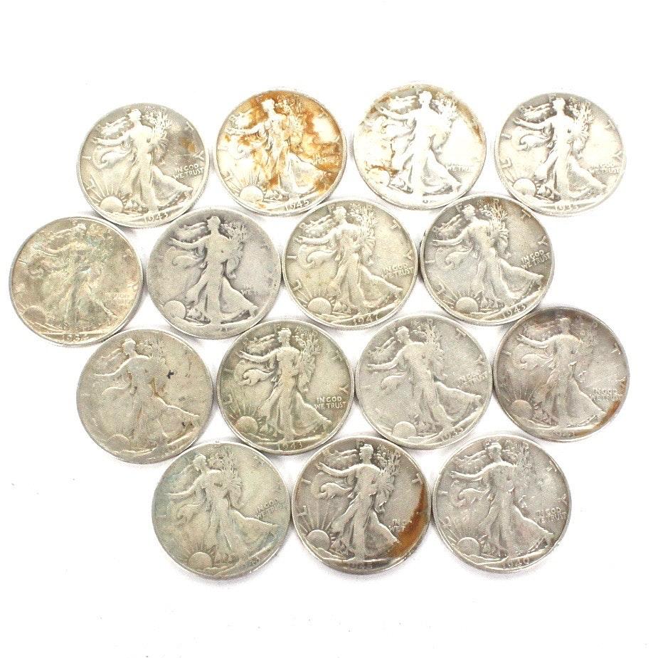 Silver Walking Liberty Half Dollars