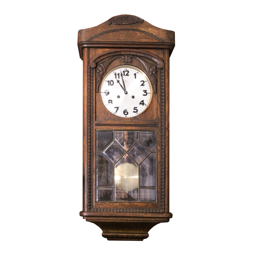 Junghans Wood Pendulum Wall Clock Ebth