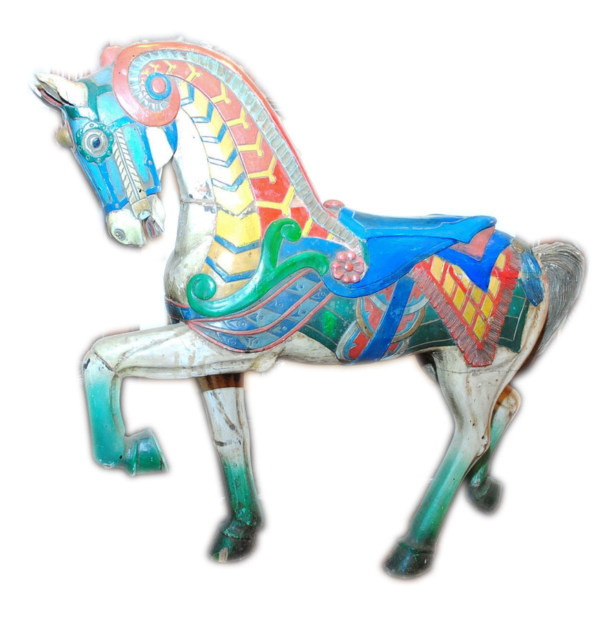 Hand Carved and Painted Carousel Horse